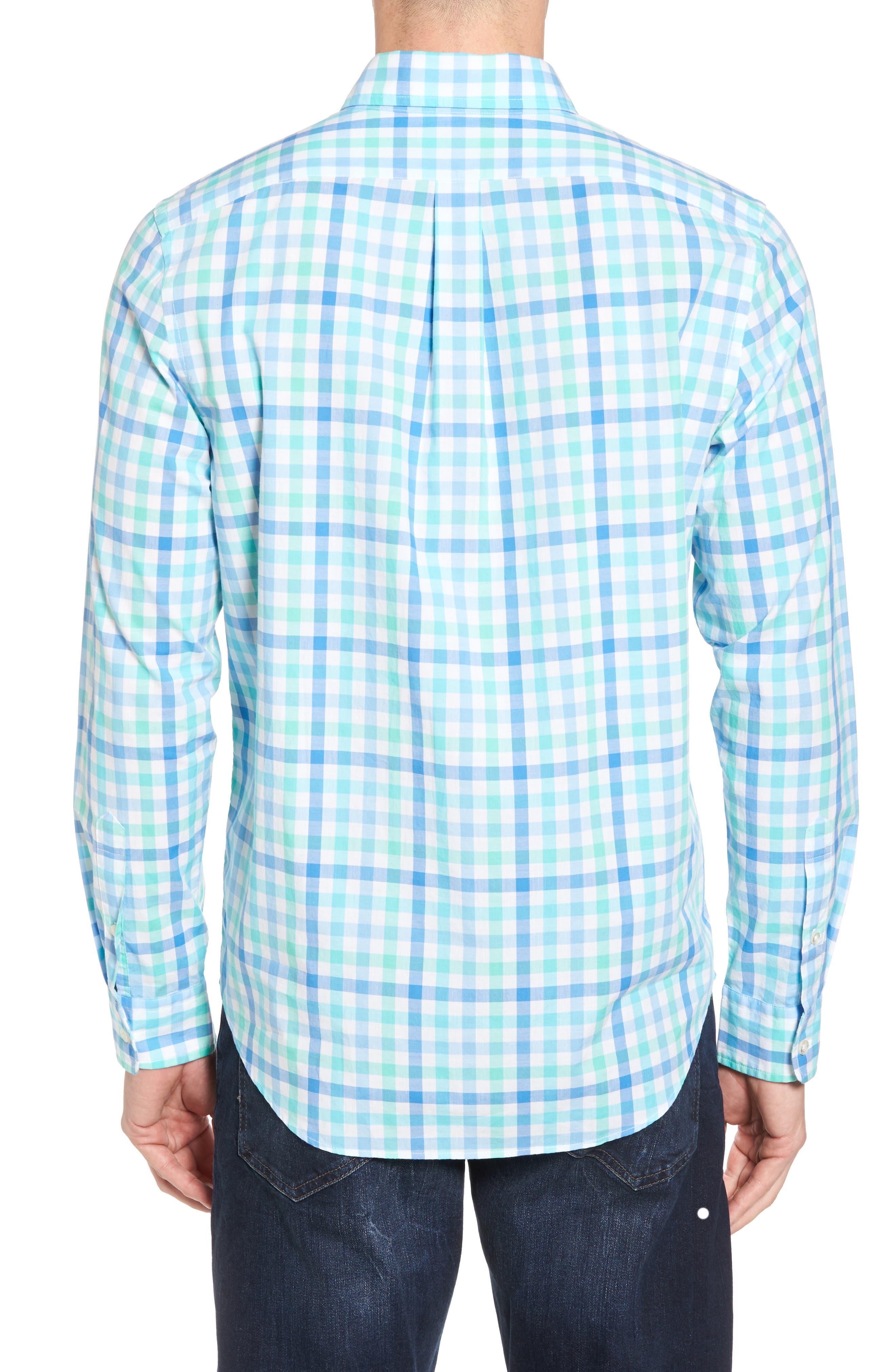 Eagles Nest Tucker Slim Fit Gingham Sport Shirt,                             Alternate thumbnail 2, color,