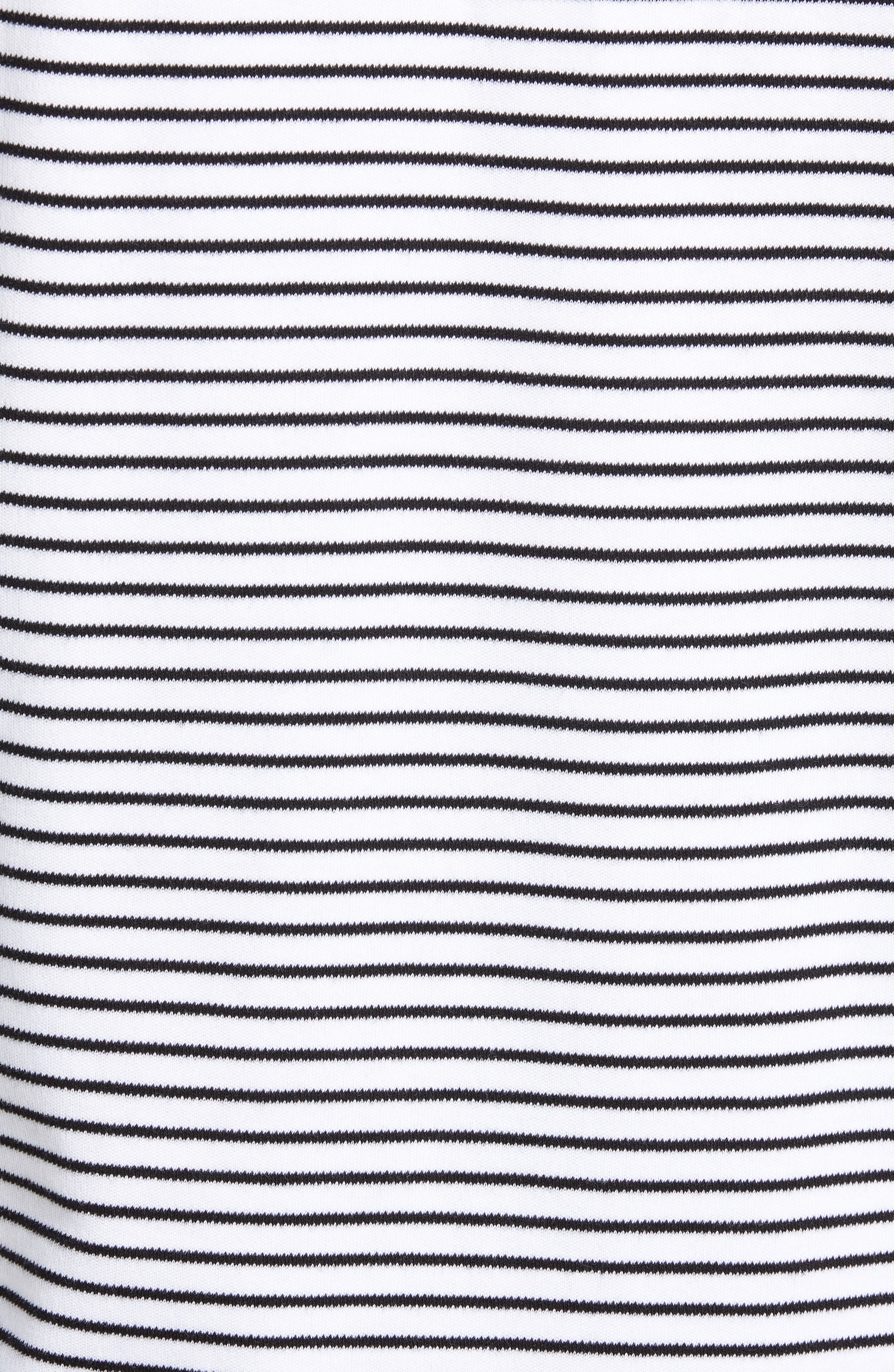 Finham Stripe Long Sleeve T-Shirt,                             Alternate thumbnail 5, color,                             WHITE / BLACK STRIPE