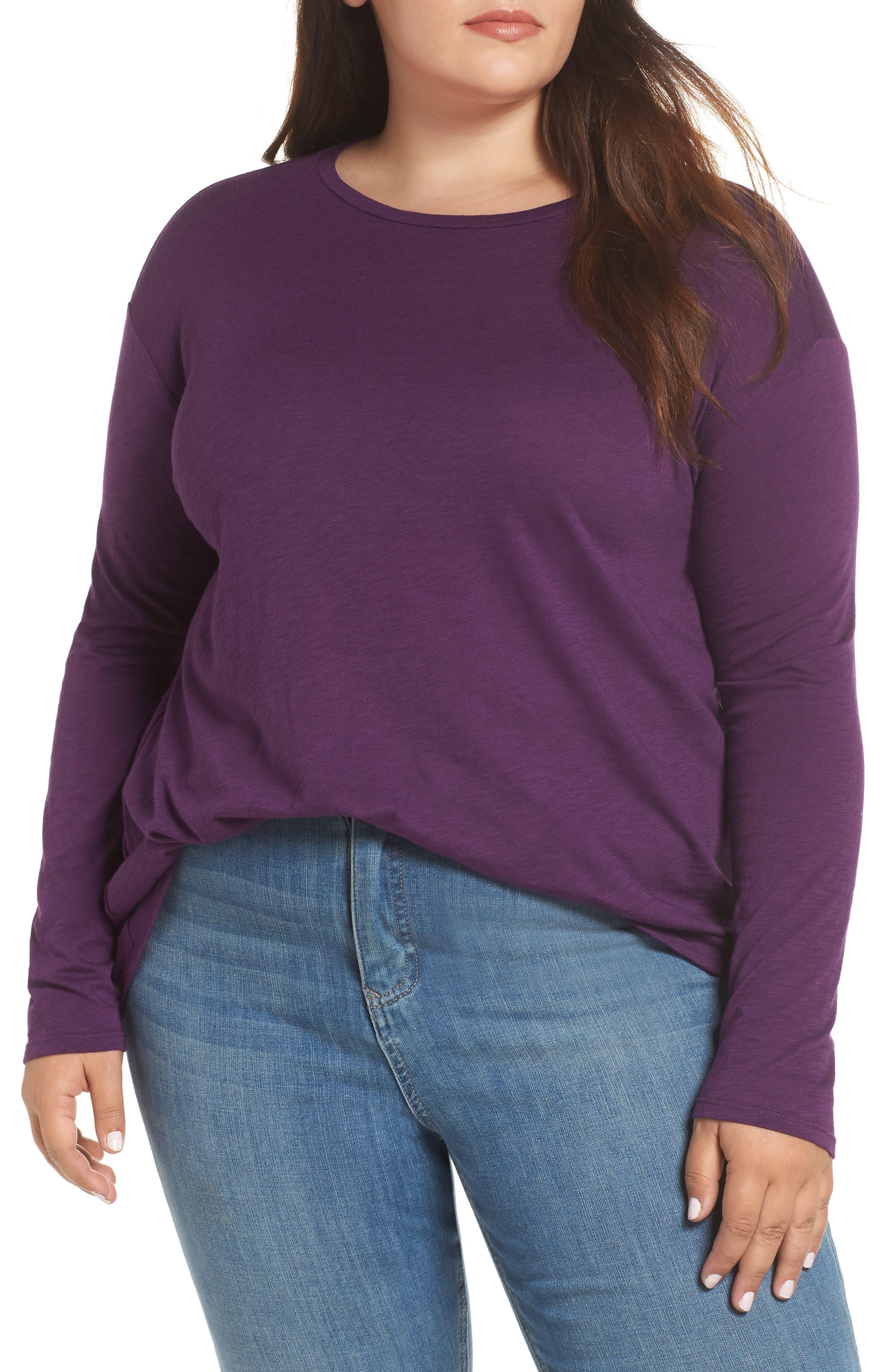 Plus Size Caslon Tunic Tee, Purple