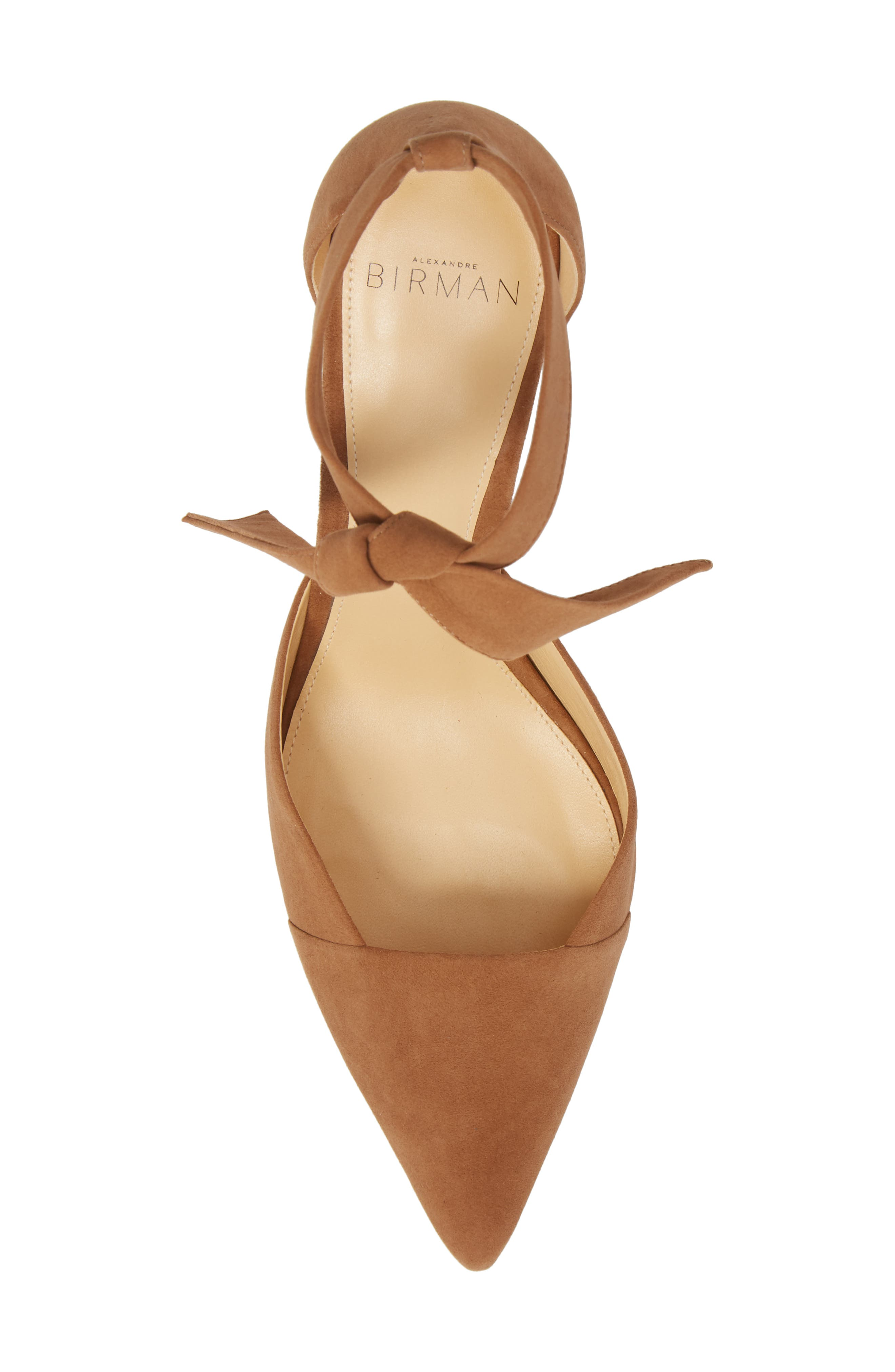 Azalea Tie Strap Pump,                             Alternate thumbnail 5, color,                             LIGHT BEIGE