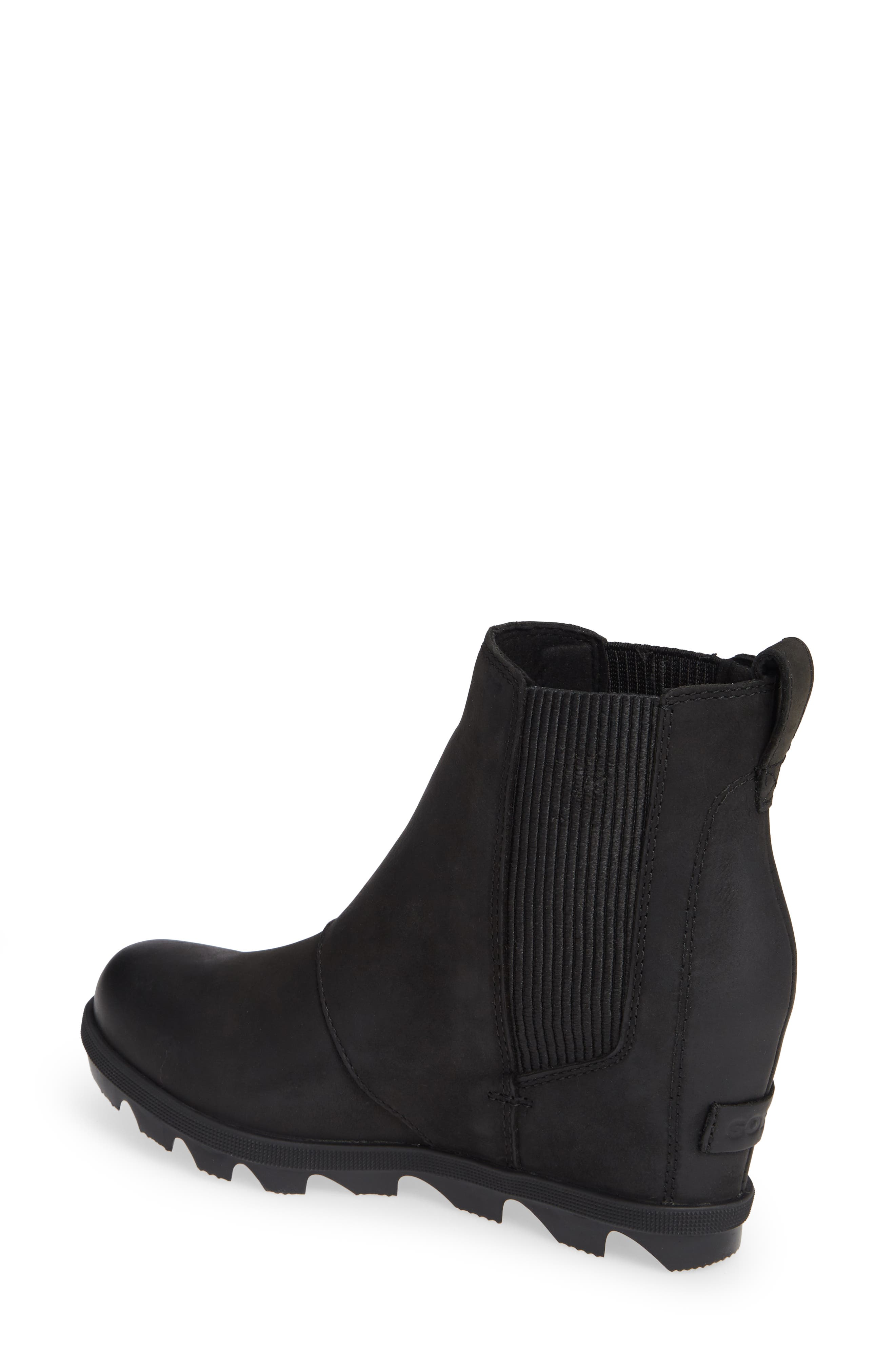 SOREL,                             Joan of Arctic II Waterproof Wedge Bootie,                             Alternate thumbnail 2, color,                             BLACK