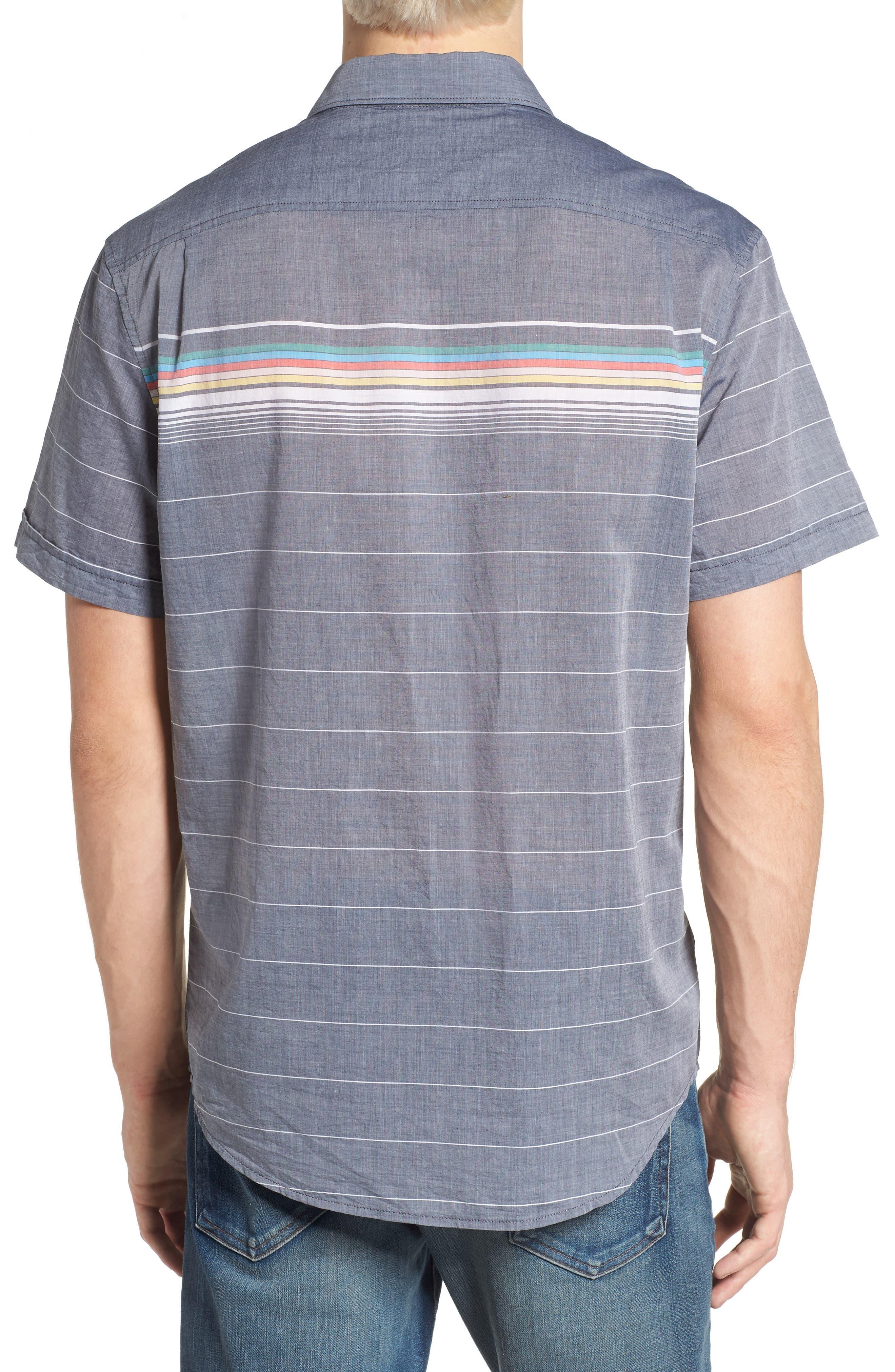 Engineered Stripe Woven Shirt,                             Alternate thumbnail 2, color,                             413