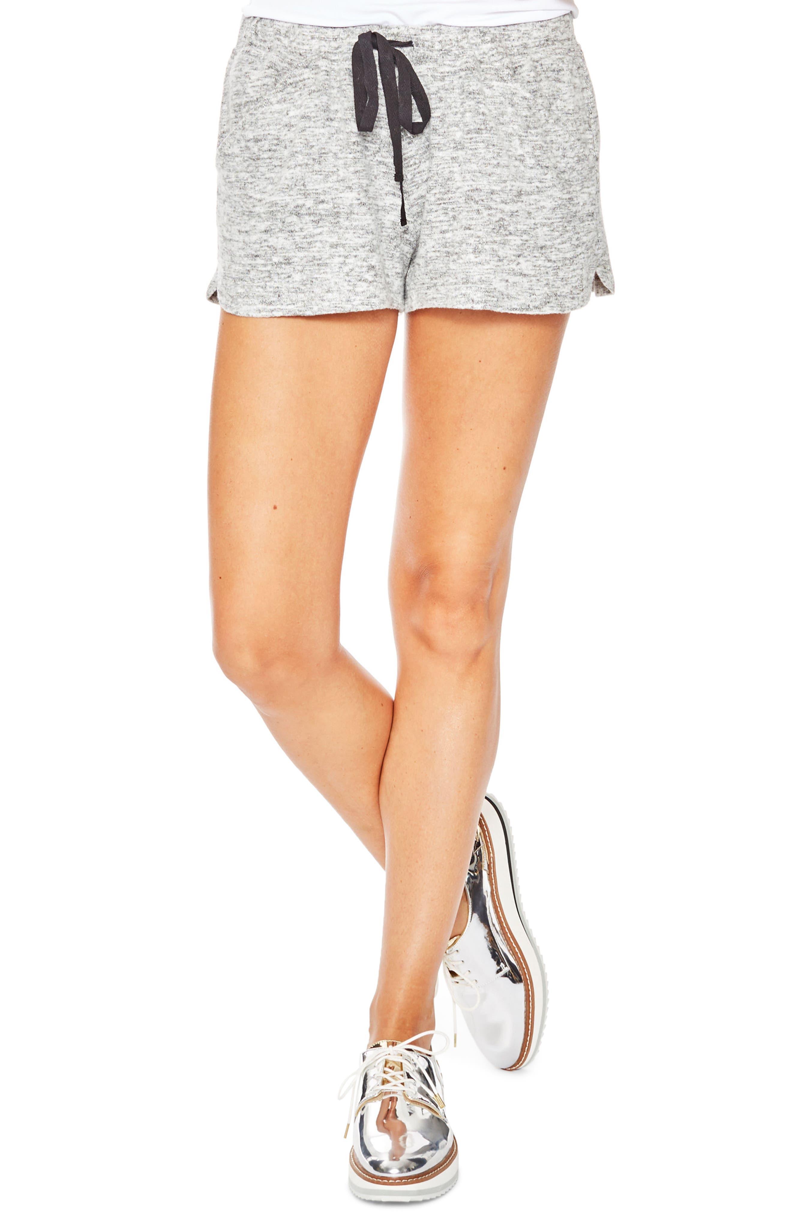 Isabel Maternity Shorts,                         Main,                         color, GREY MELANGE