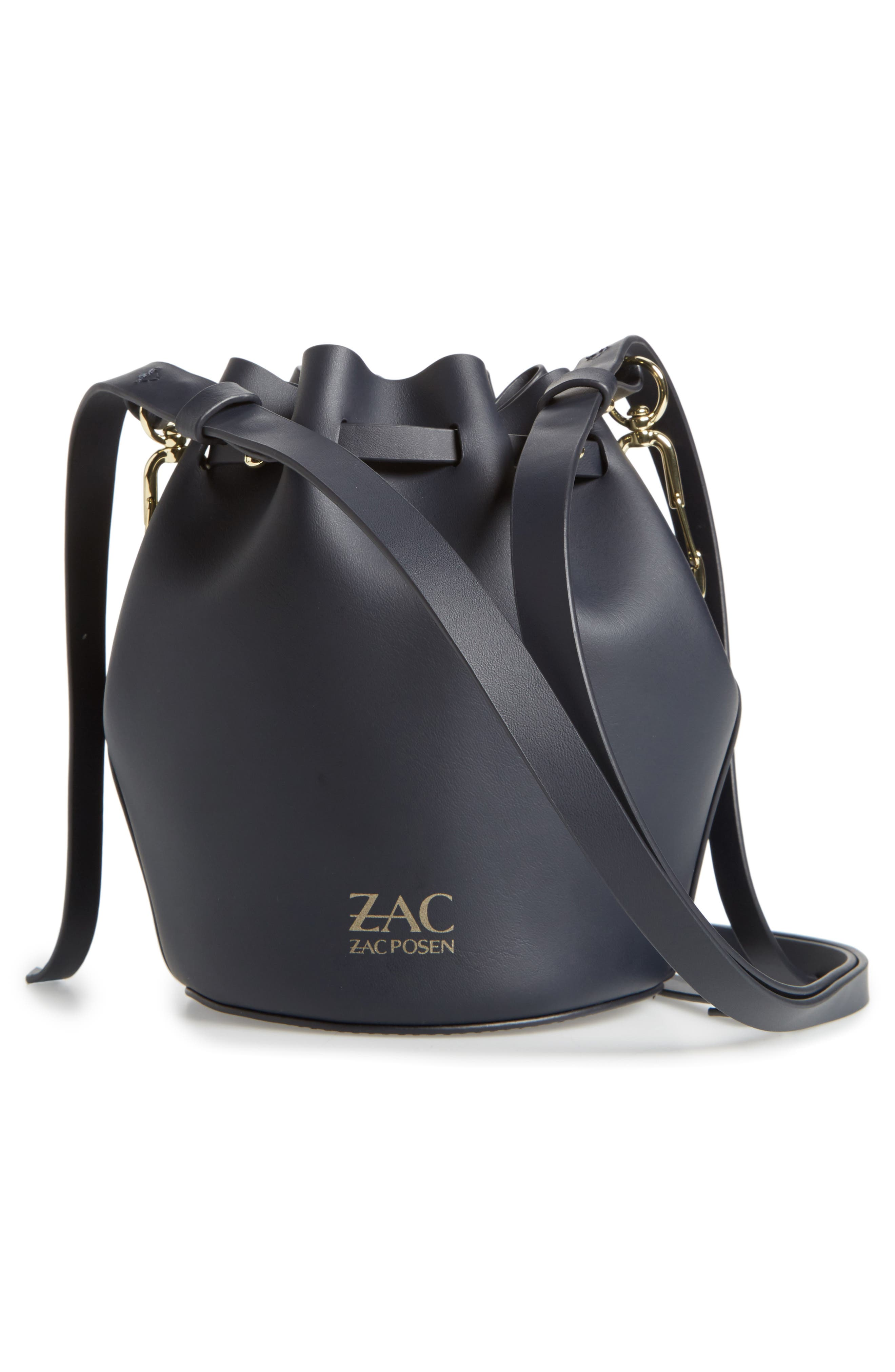 Mini Belay Calfskin Leather Drawstring Bag,                             Alternate thumbnail 8, color,