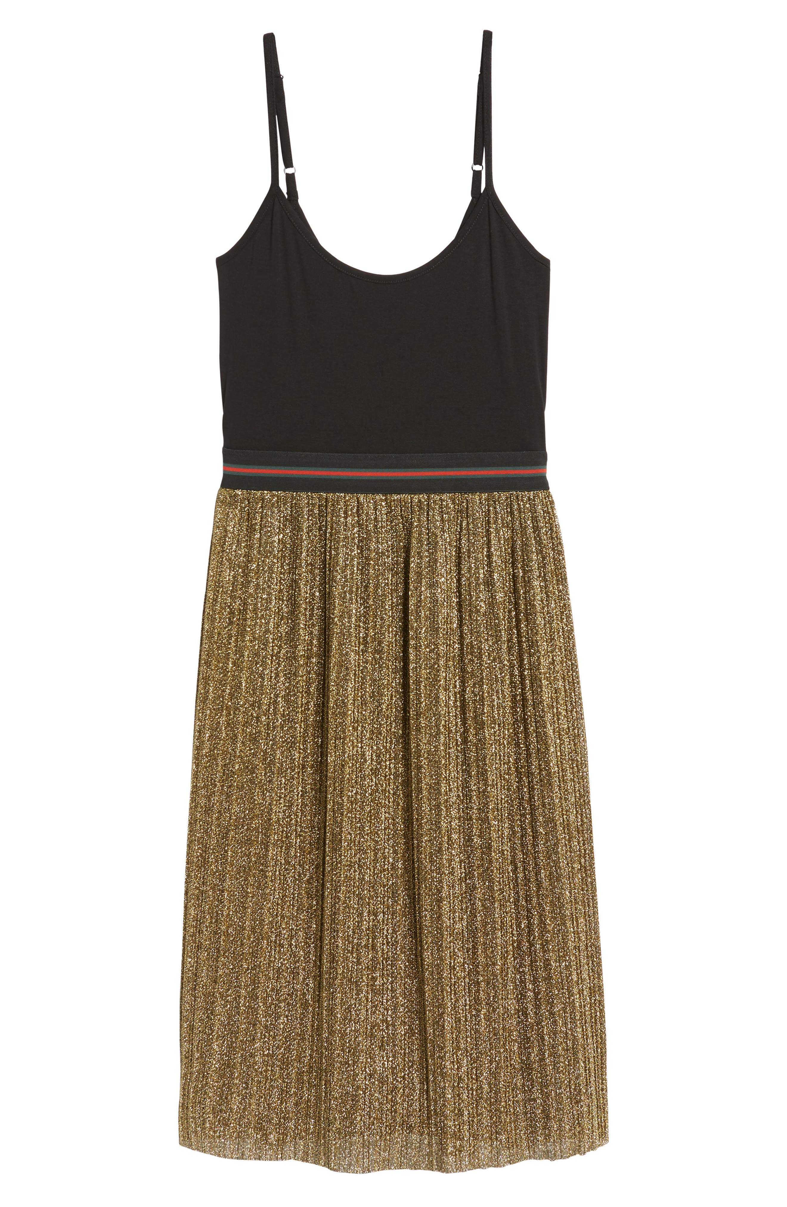 Metallic Tank Dress,                             Alternate thumbnail 6, color,                             002