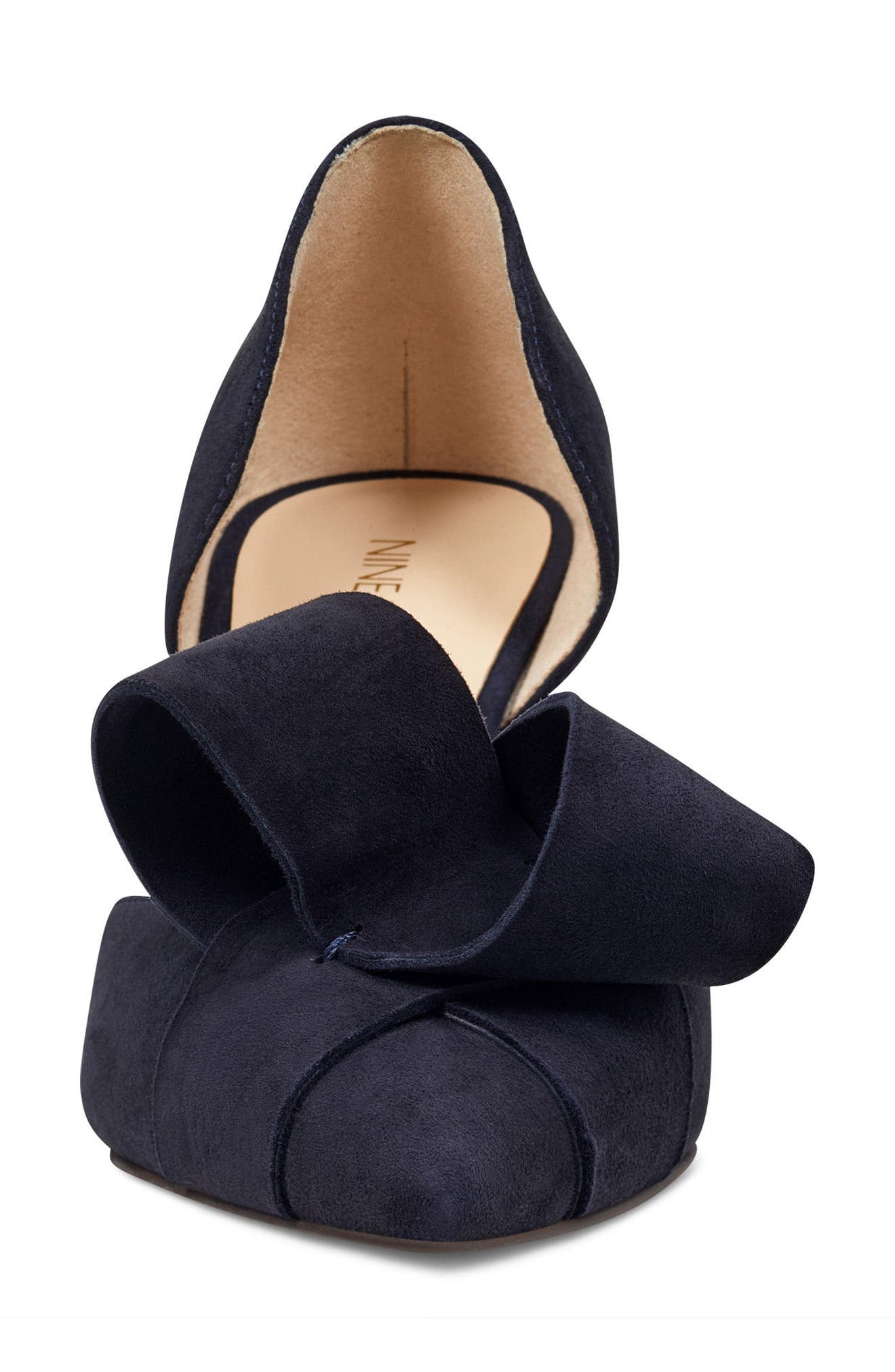 McFally d'Orsay Pump,                             Alternate thumbnail 4, color,                             NAVY SUEDE