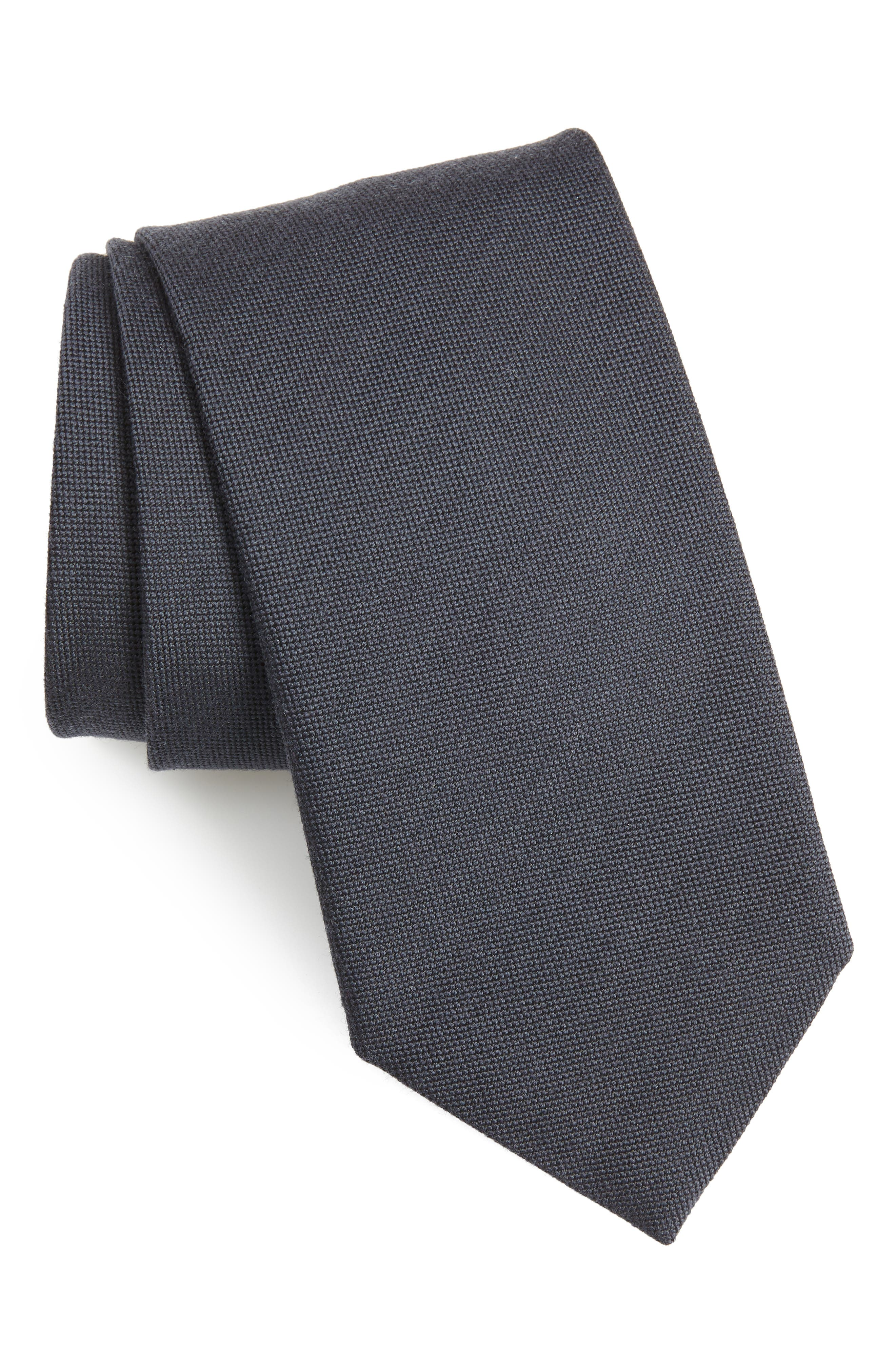 Wool & Silk Tie,                         Main,                         color, 410