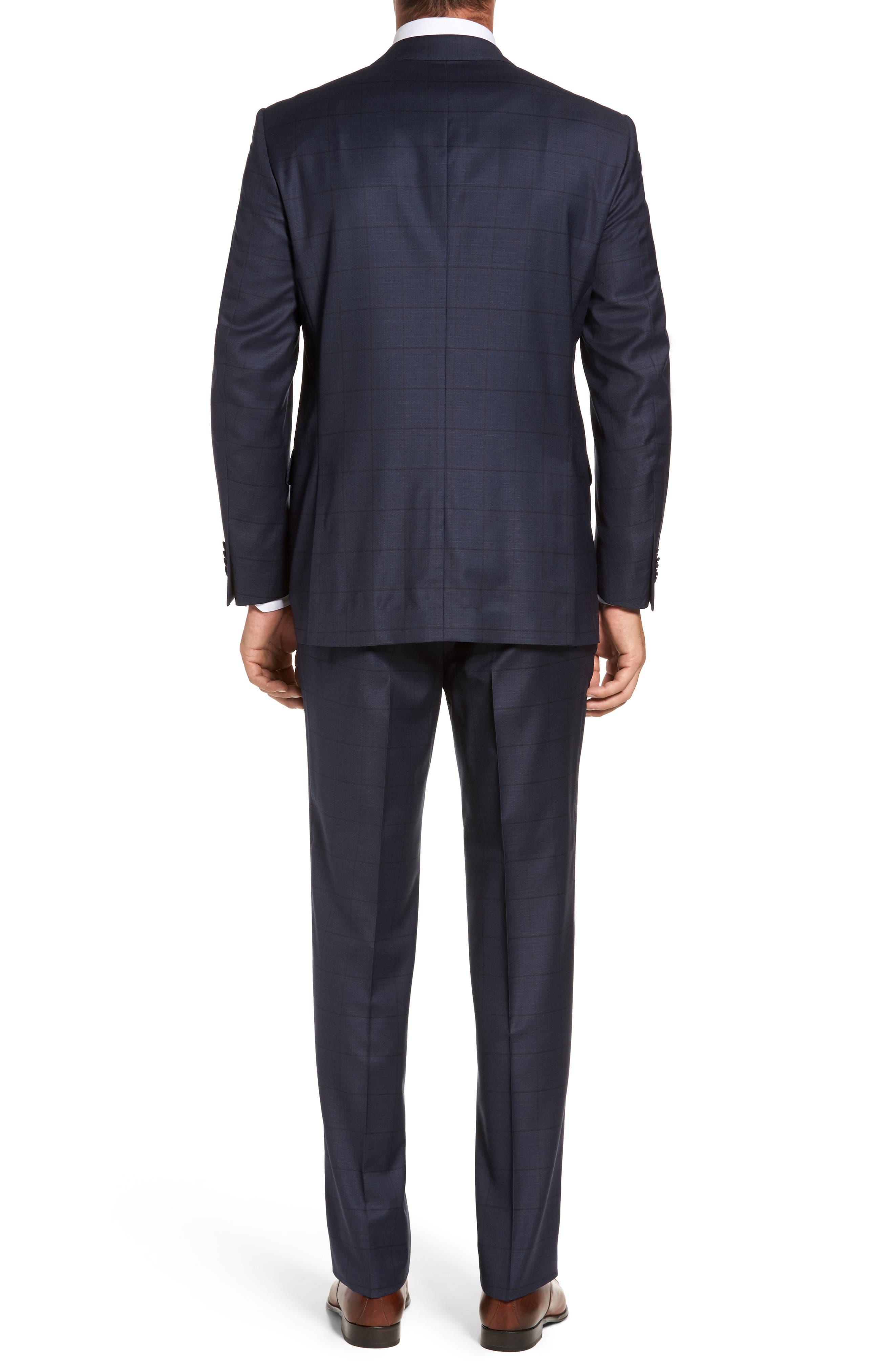 Flynn Classic Fit Windowpane Wool Suit,                             Alternate thumbnail 2, color,                             410