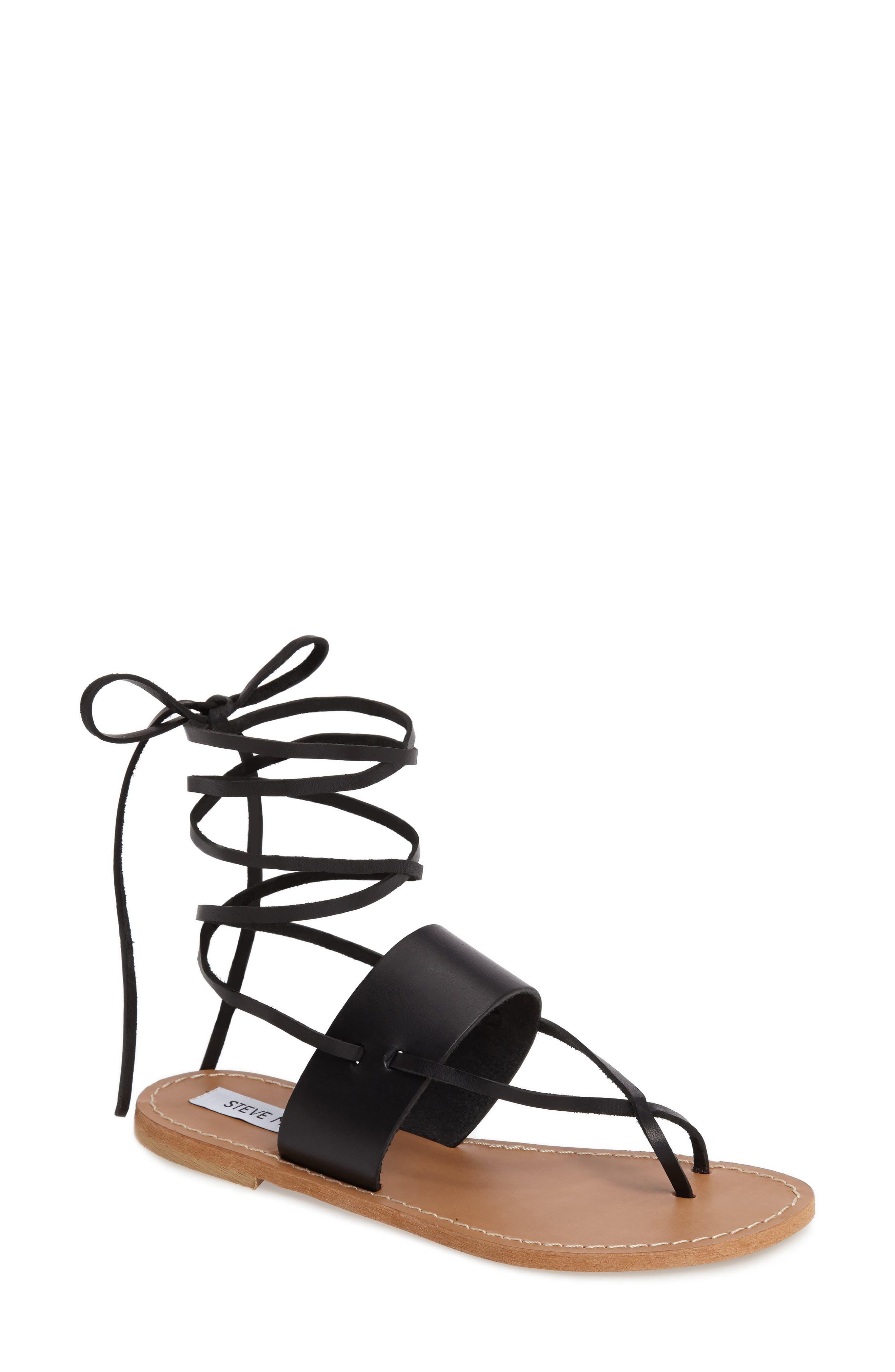 Bianca Lace-Up Sandal,                             Main thumbnail 1, color,                             001