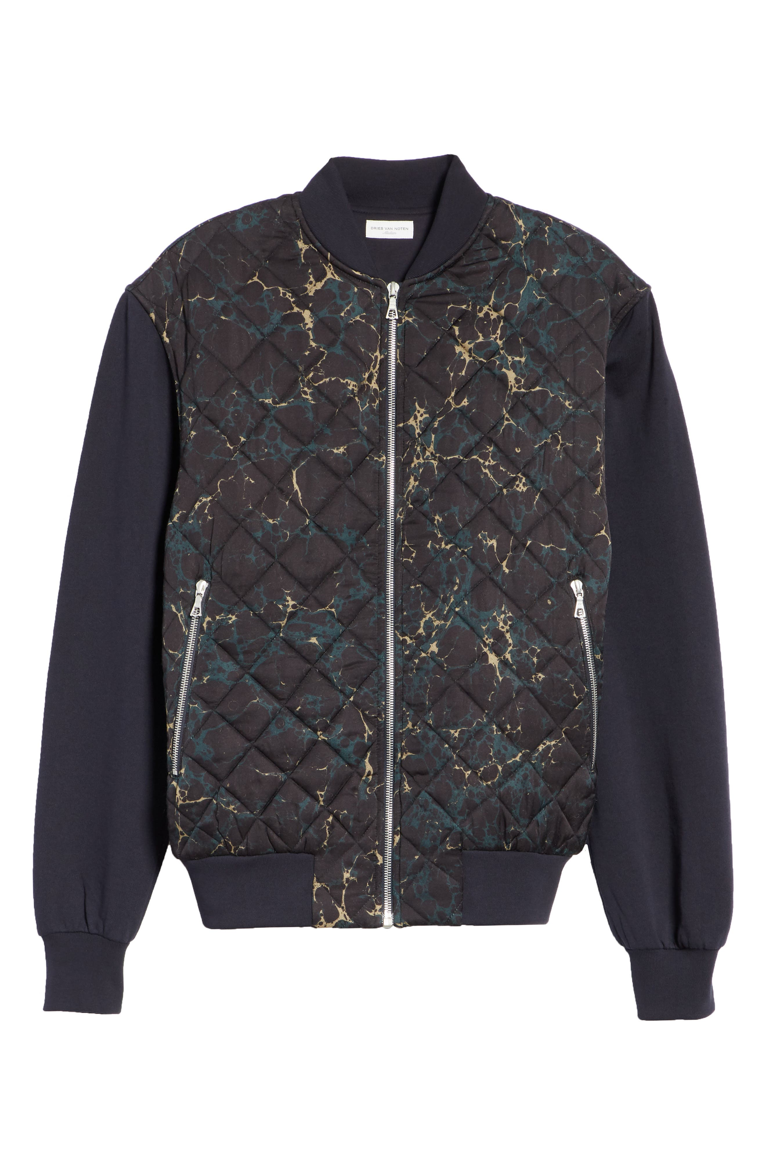 Quilted Fleece Bomber Jacket,                             Alternate thumbnail 6, color,                             410