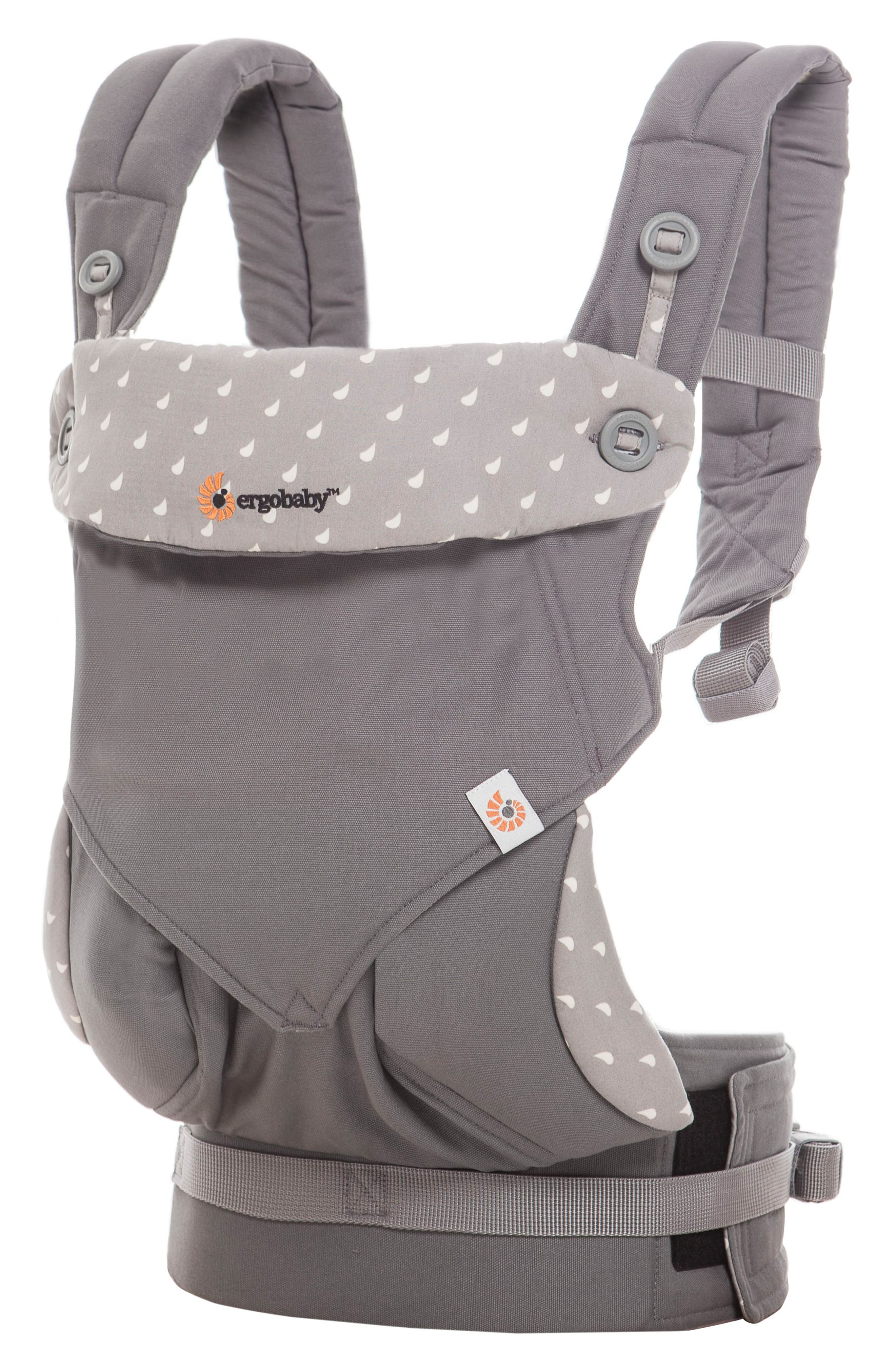 Four Position 360 Baby Carrier,                             Alternate thumbnail 3, color,                             DEWY GREY