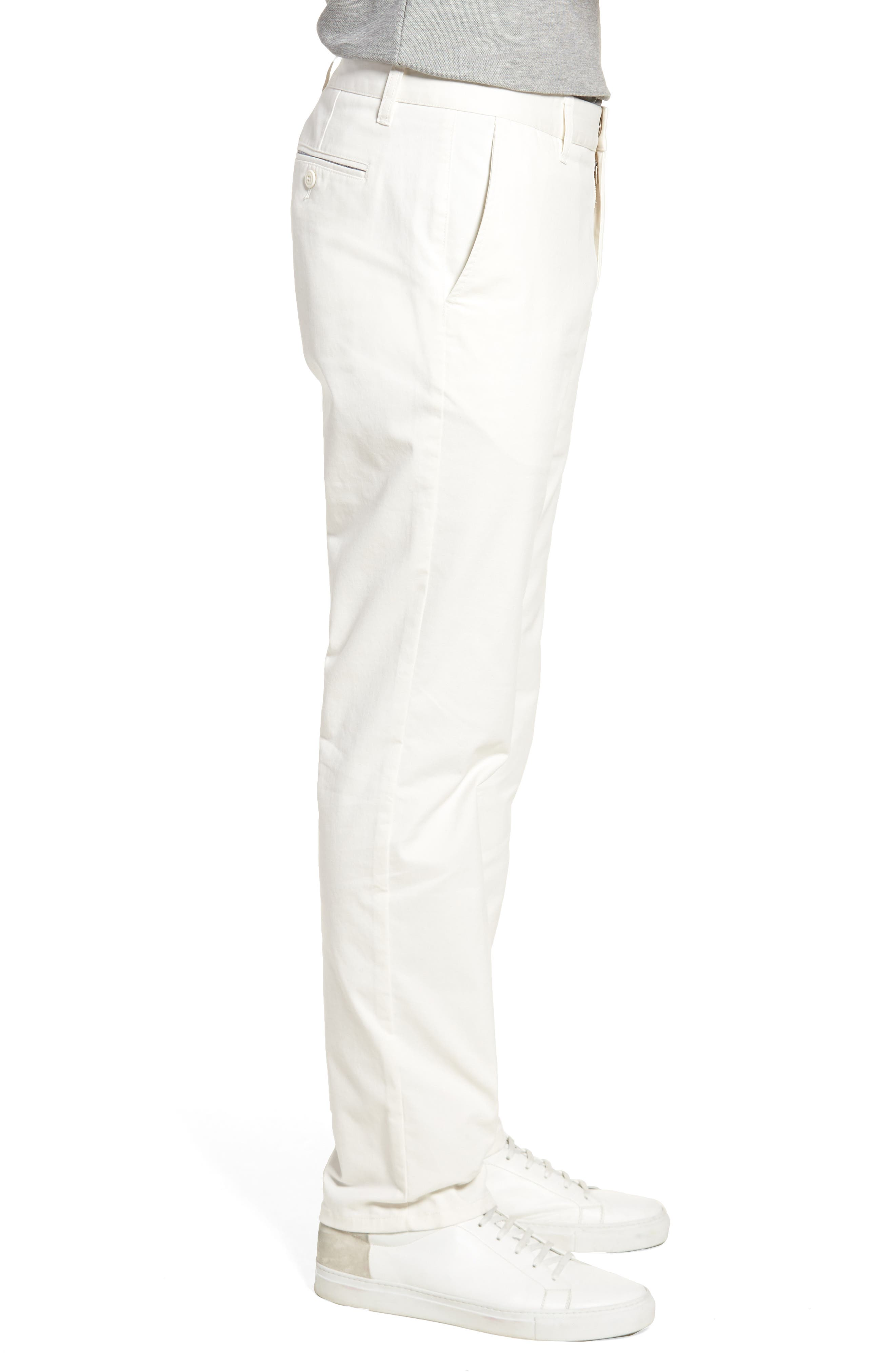 Slim Fit Stretch Washed Chinos,                             Alternate thumbnail 3, color,                             FULL SAIL OFF WHITE