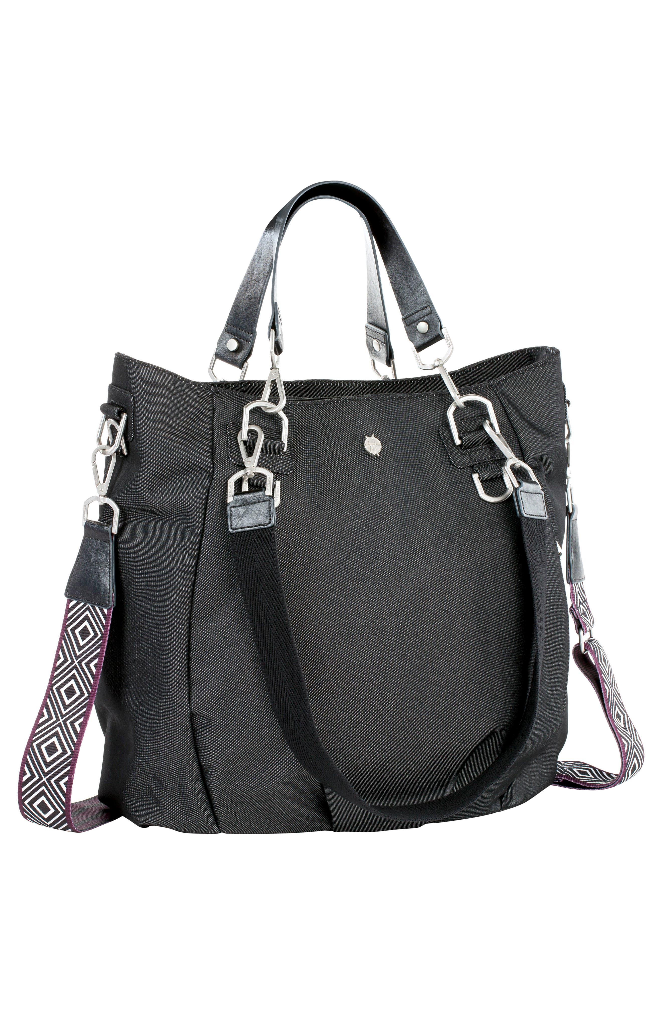 Mix 'N Match Denim Diaper Bag,                             Alternate thumbnail 9, color,                             BLACK