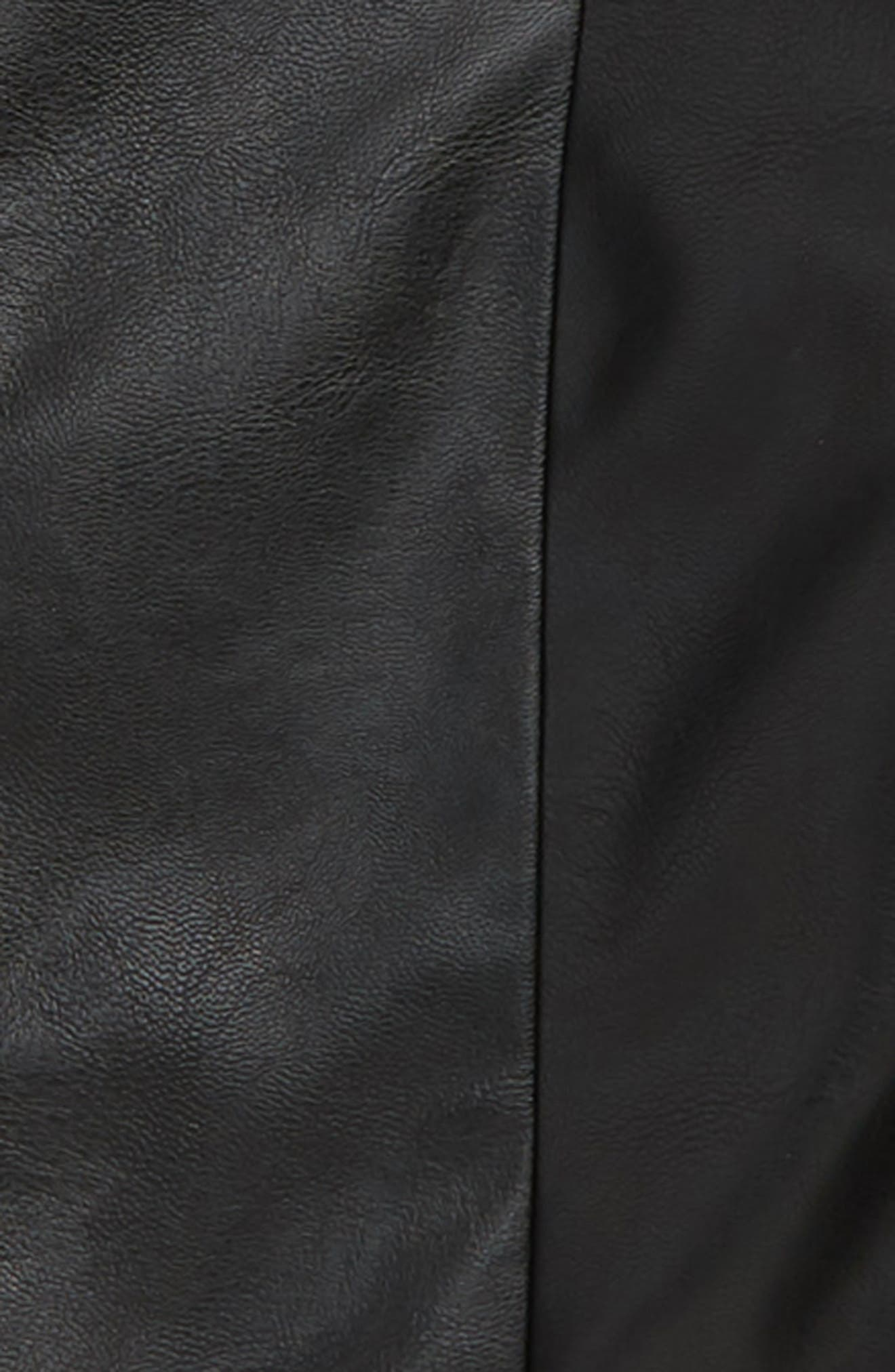 Emma Faux Leather Jacket,                             Alternate thumbnail 2, color,                             001