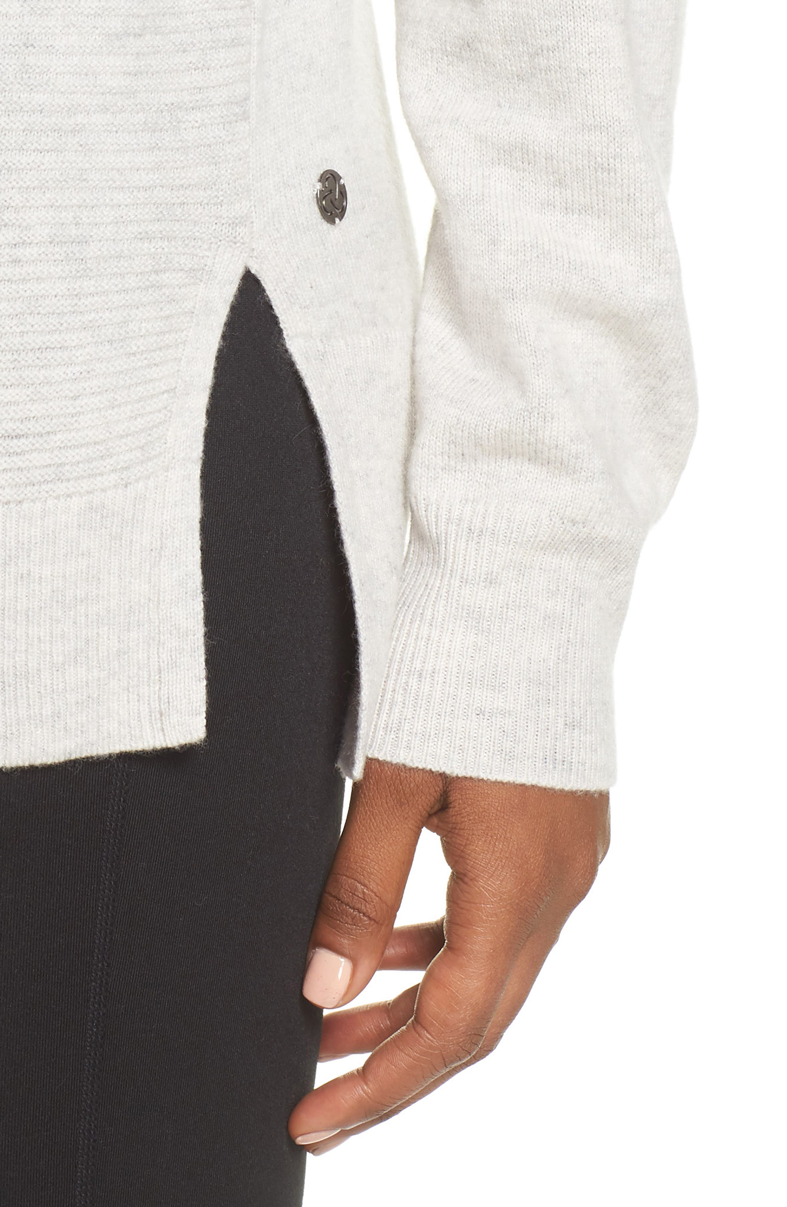 Cashmere and Wool Hoodie,                             Alternate thumbnail 4, color,                             022