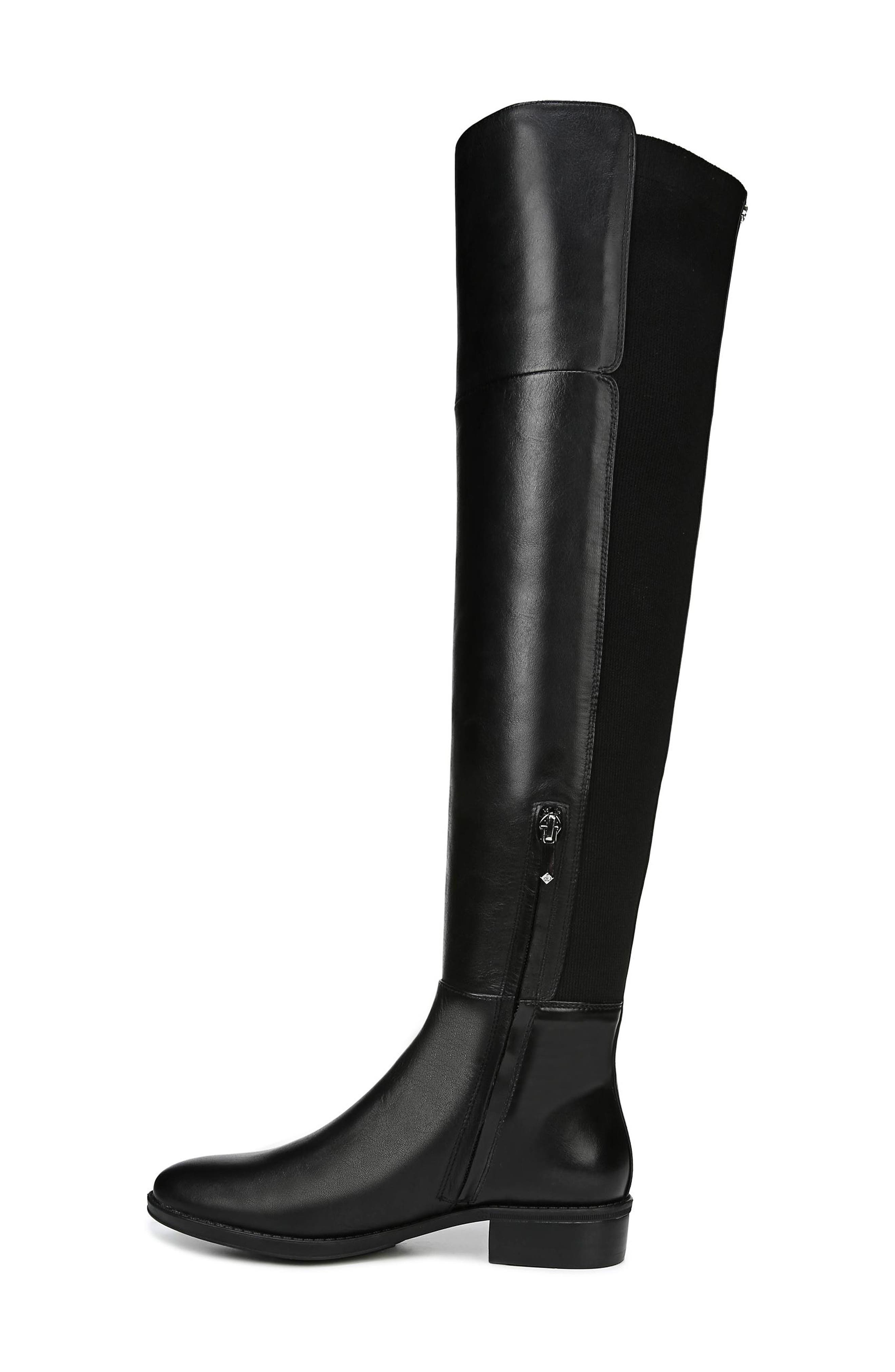 Pam Over the Knee Boot,                             Alternate thumbnail 8, color,                             BLACK LEATHER