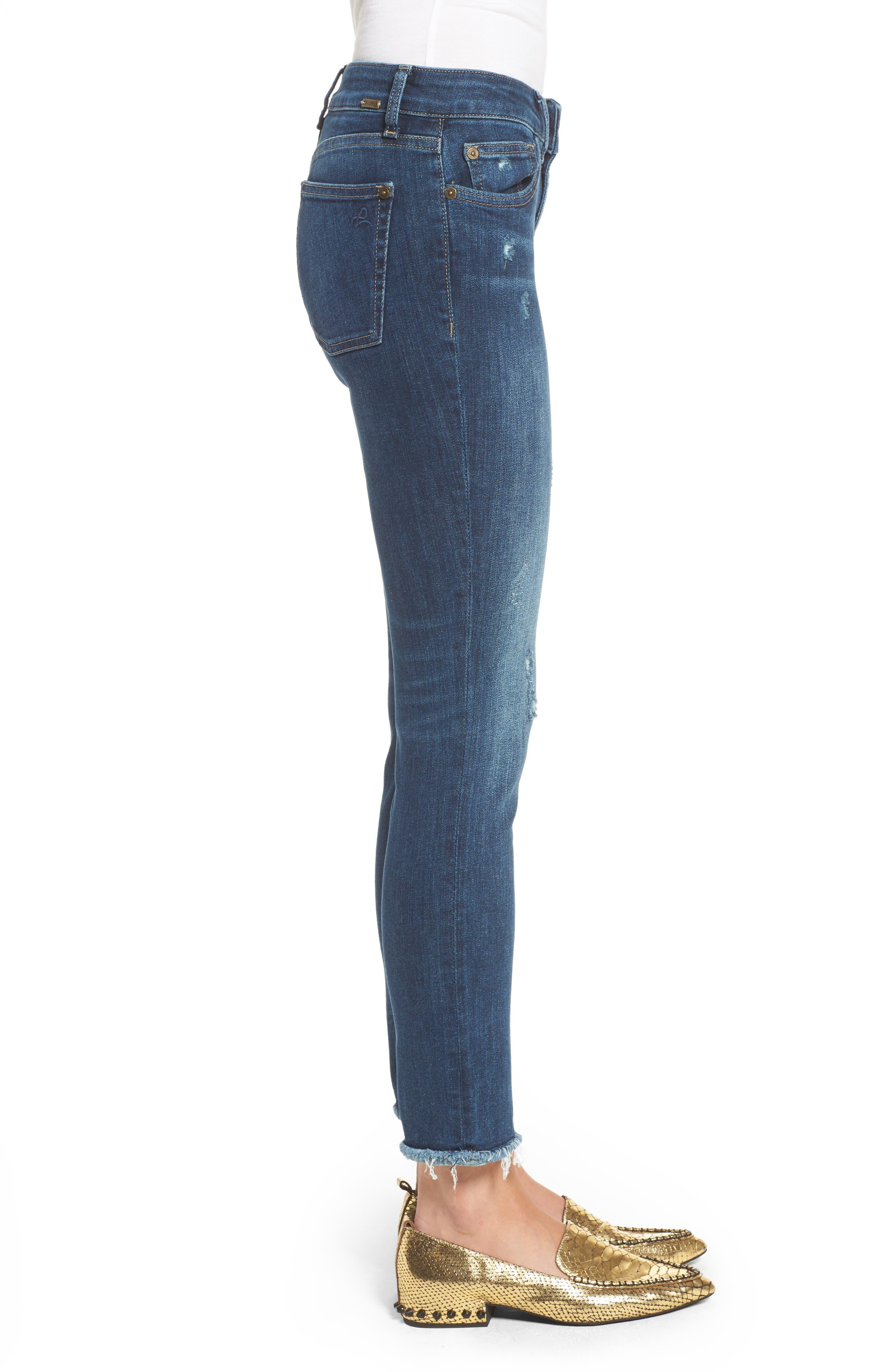 Mara Ankle Straight Leg Jeans,                             Alternate thumbnail 3, color,                             RAVINE