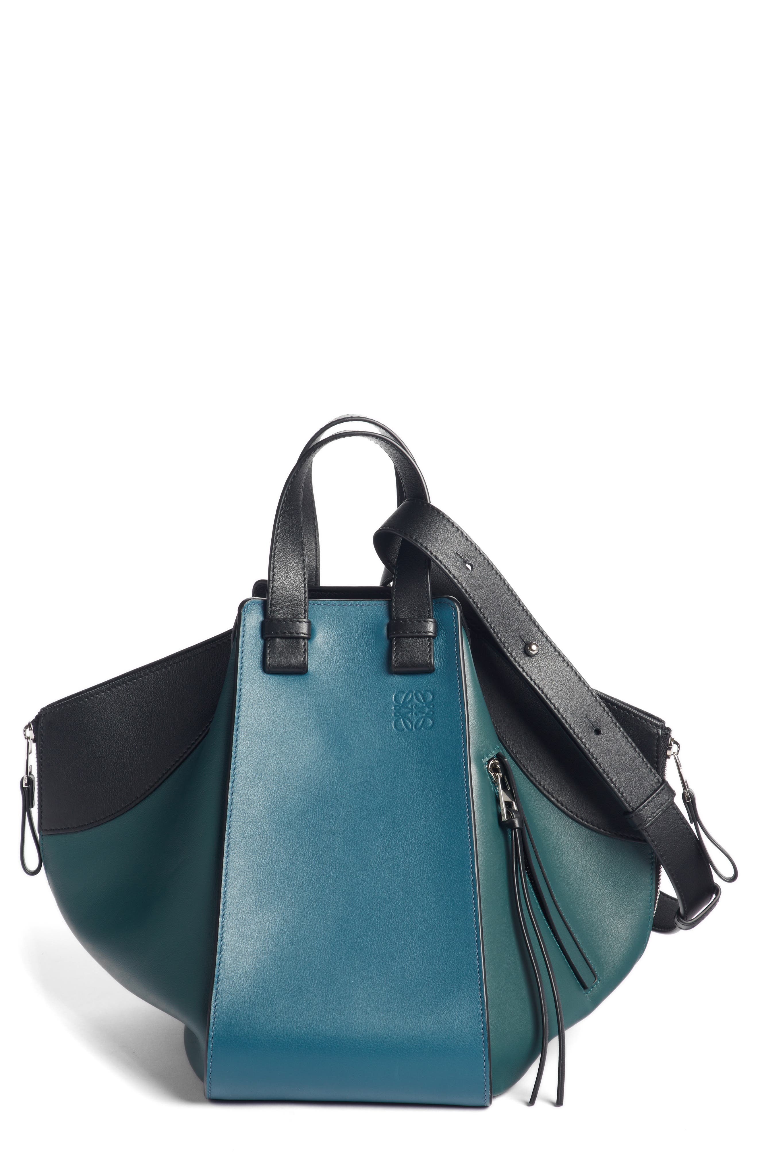 Small Hammock Tricolor Pebbled Leather Hobo,                         Main,                         color, 405