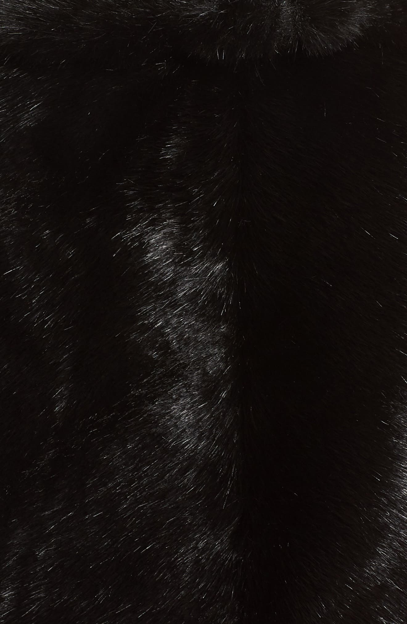 Faux Fur Capelet,                             Alternate thumbnail 5, color,                             BLACK