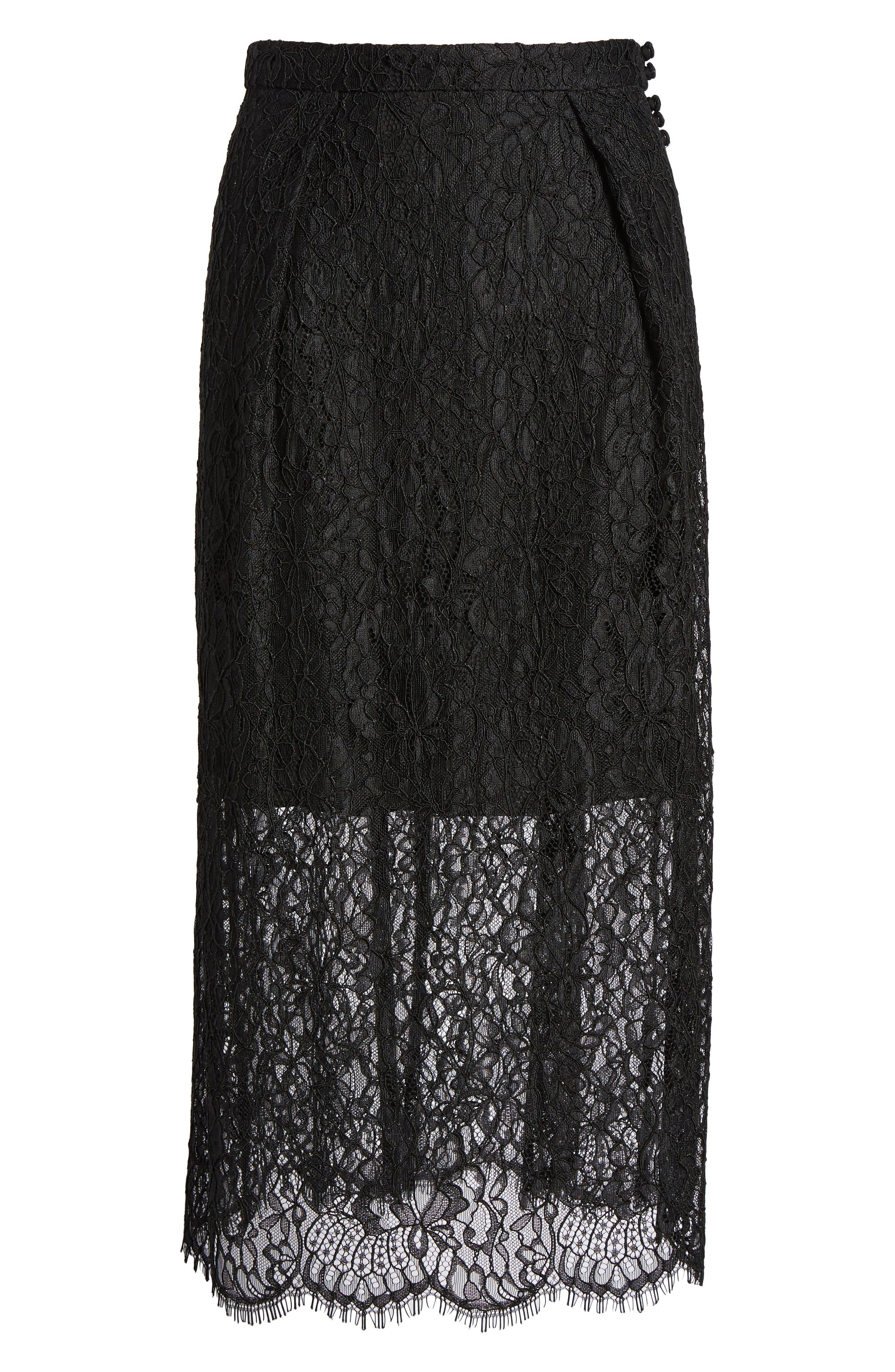 Lace Midi Skirt,                             Alternate thumbnail 6, color,