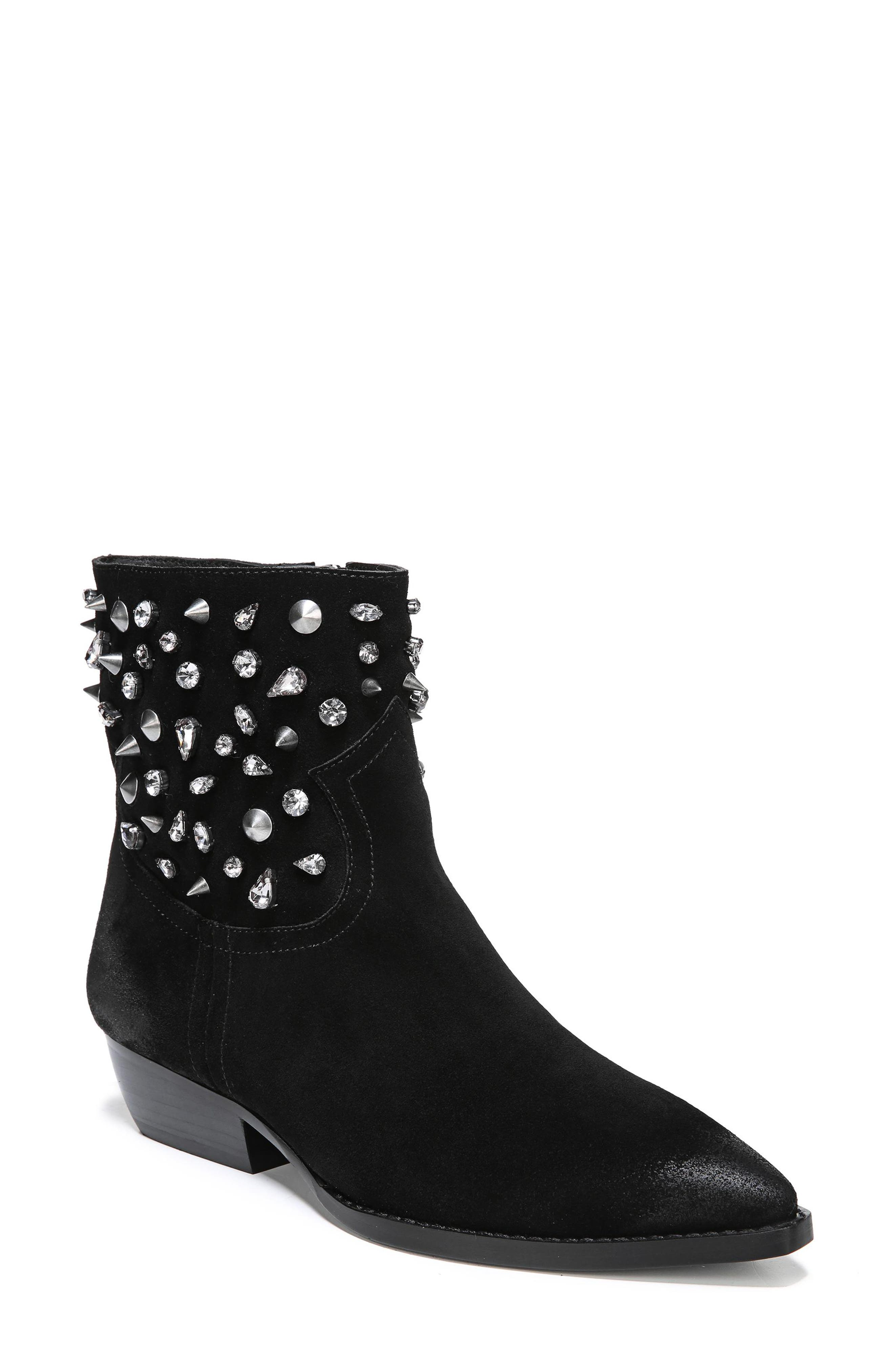 Sam Edelman Avril Embellished Bootie, Black