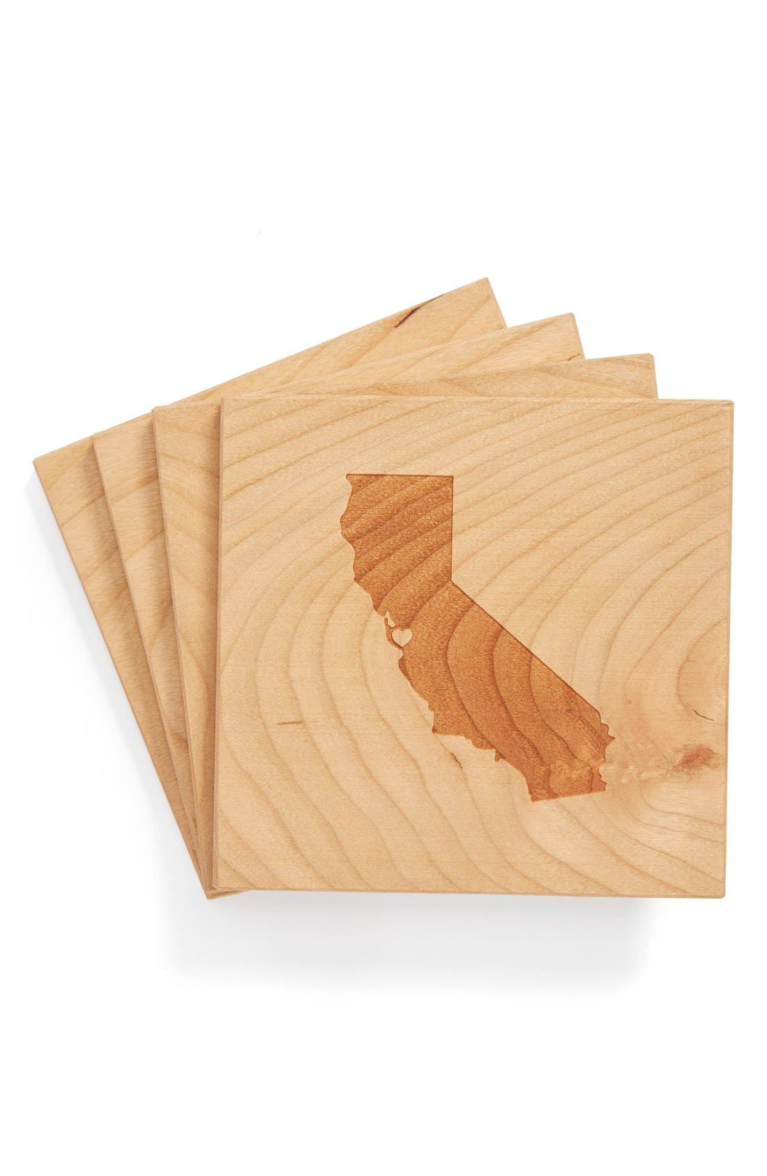 'State Silhouette' Coasters,                             Main thumbnail 32, color,
