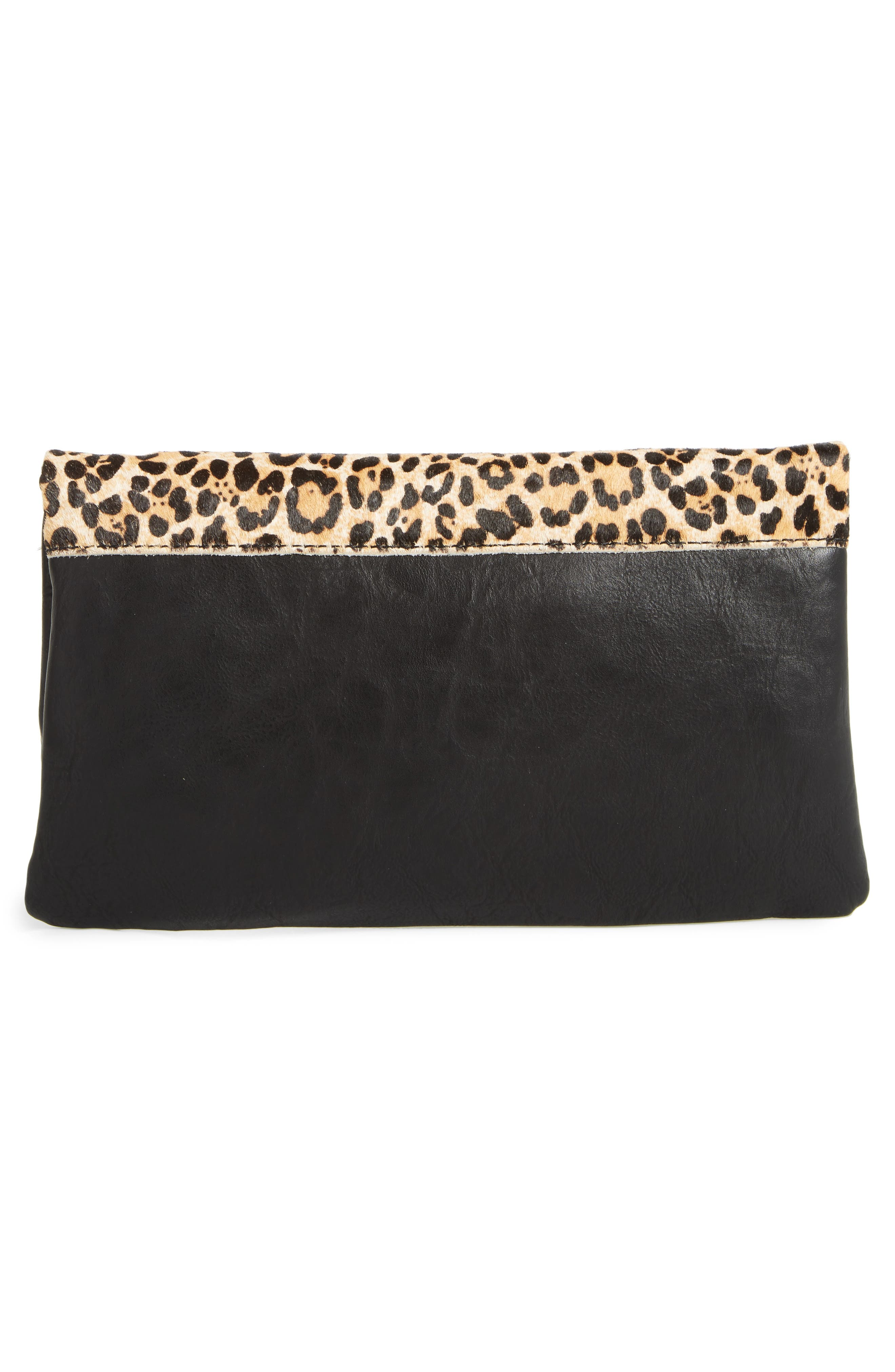Marlena Faux Leather Foldover Clutch,                             Alternate thumbnail 3, color,                             200