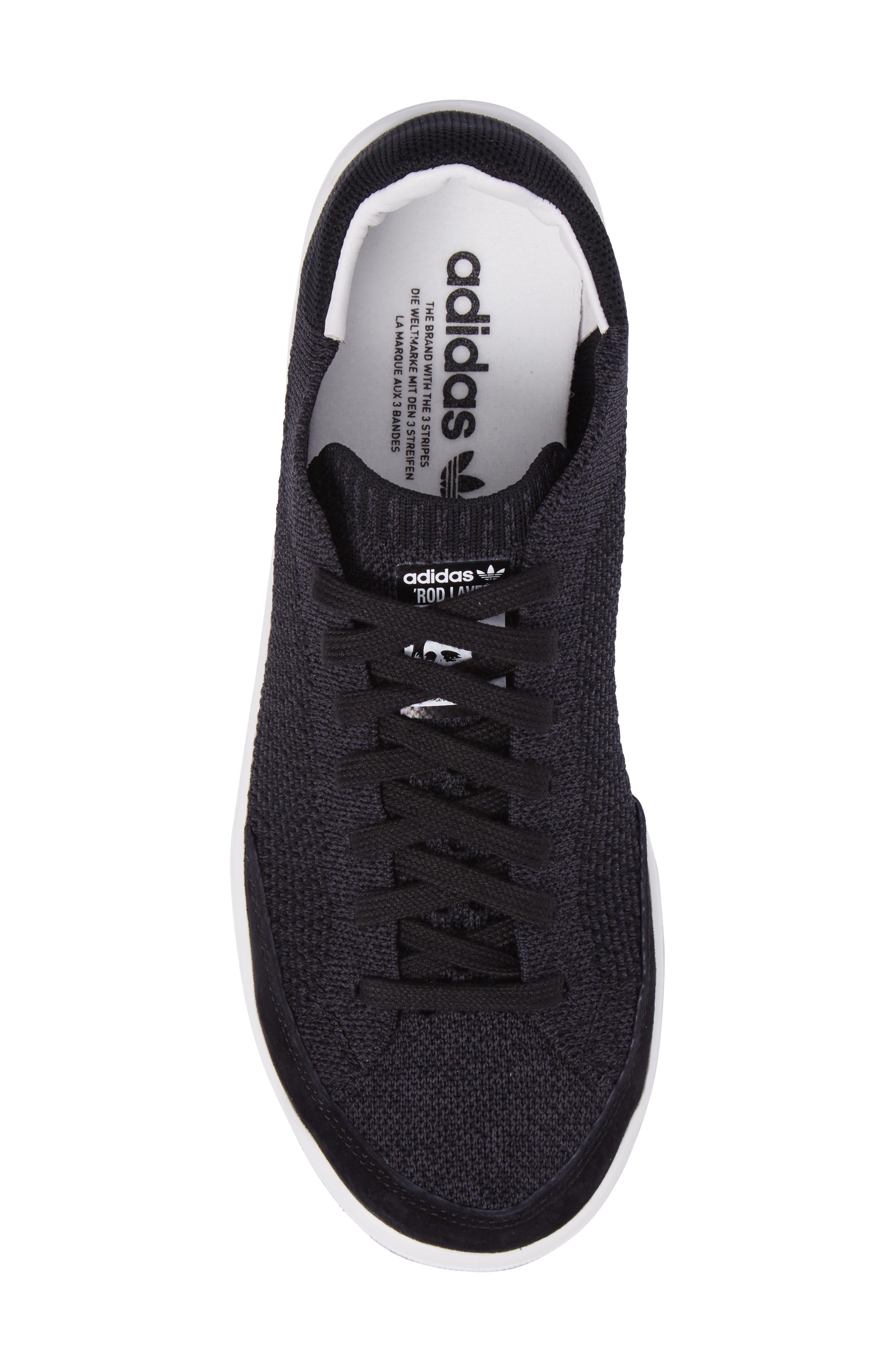 Rod Laver Super Primeknit Sneaker,                             Alternate thumbnail 5, color,                             001