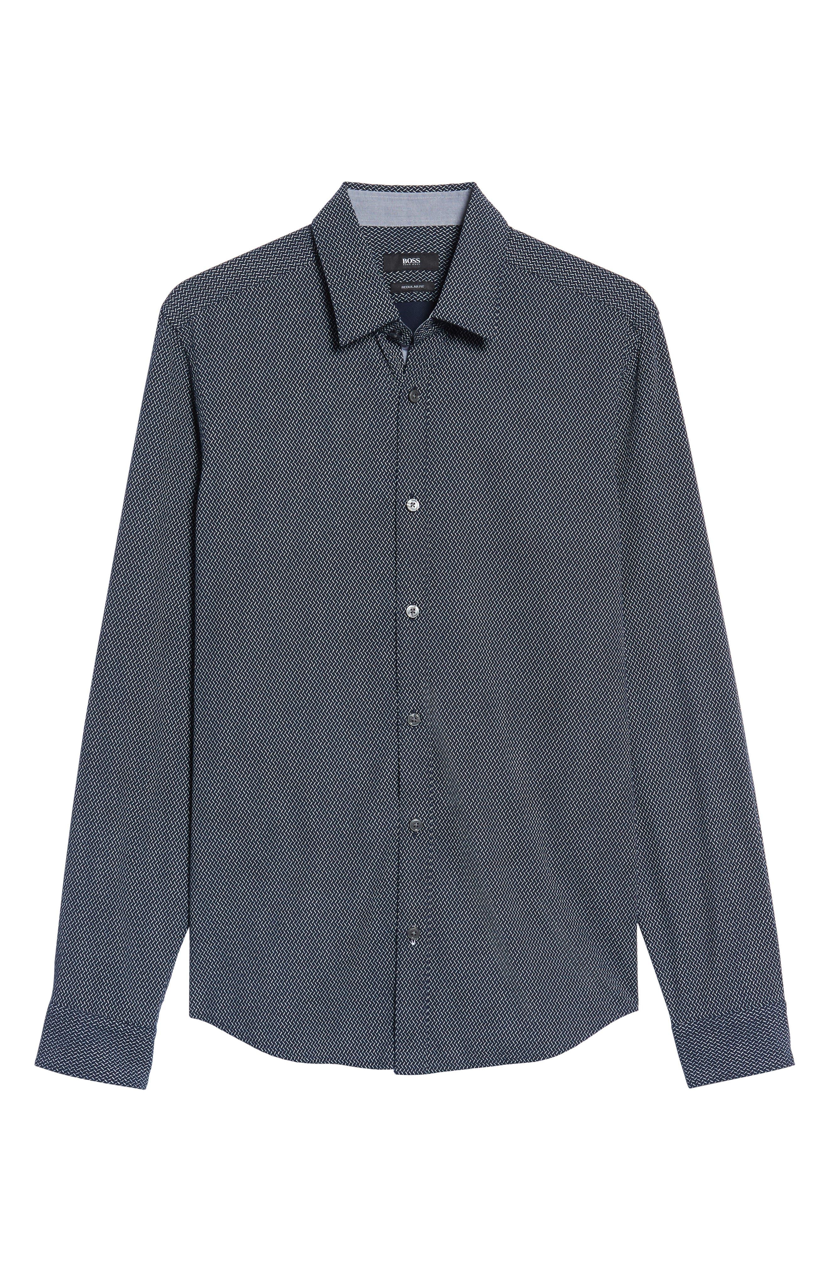 Lance Regular Fit Print Sport Shirt,                             Alternate thumbnail 6, color,                             410