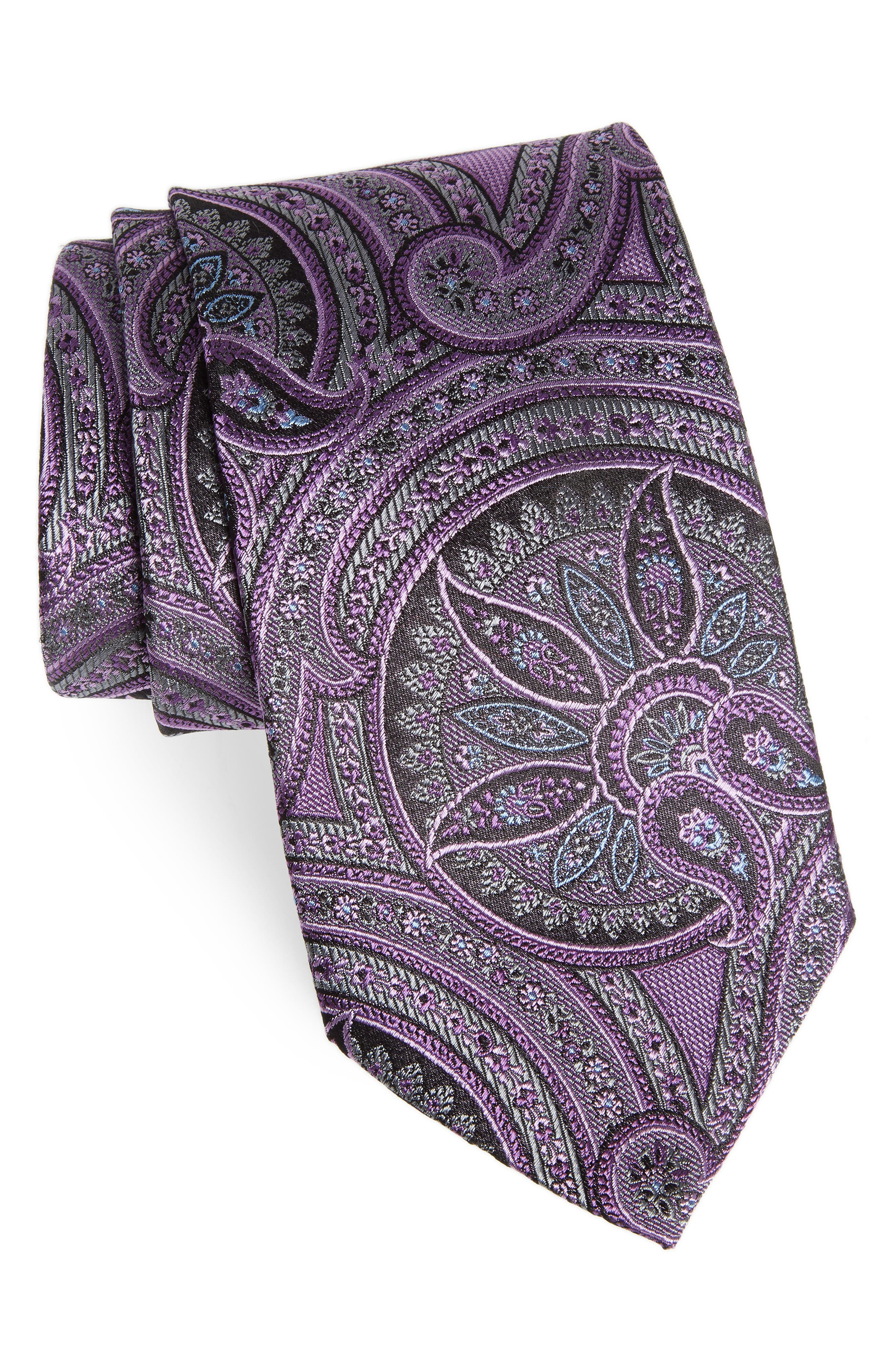 Paisley Silk Tie,                             Main thumbnail 1, color,                             500