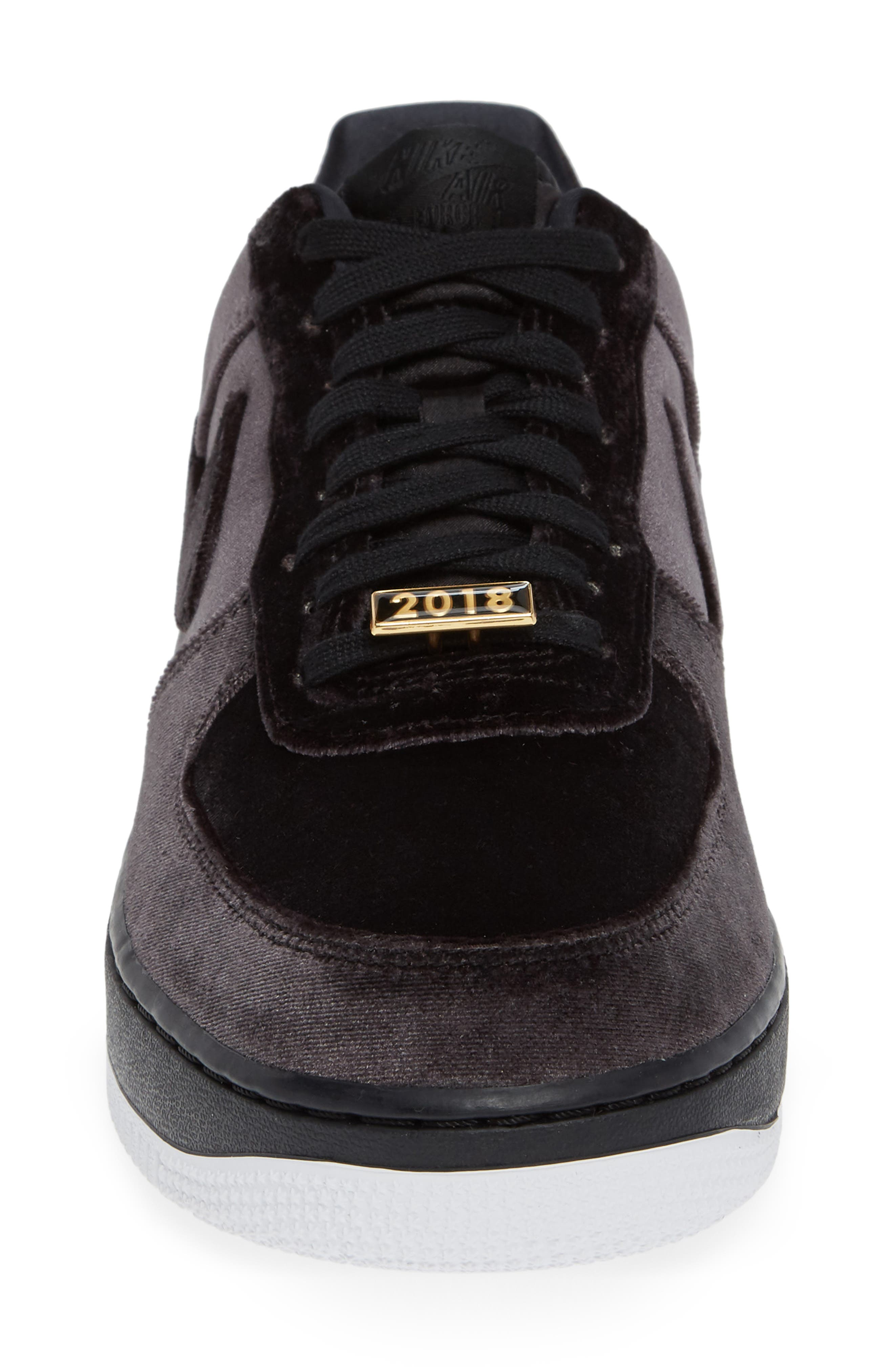 Air Force 1 '07 QS Sneaker,                             Alternate thumbnail 4, color,                             BLACK/ BLACK/ WHITE
