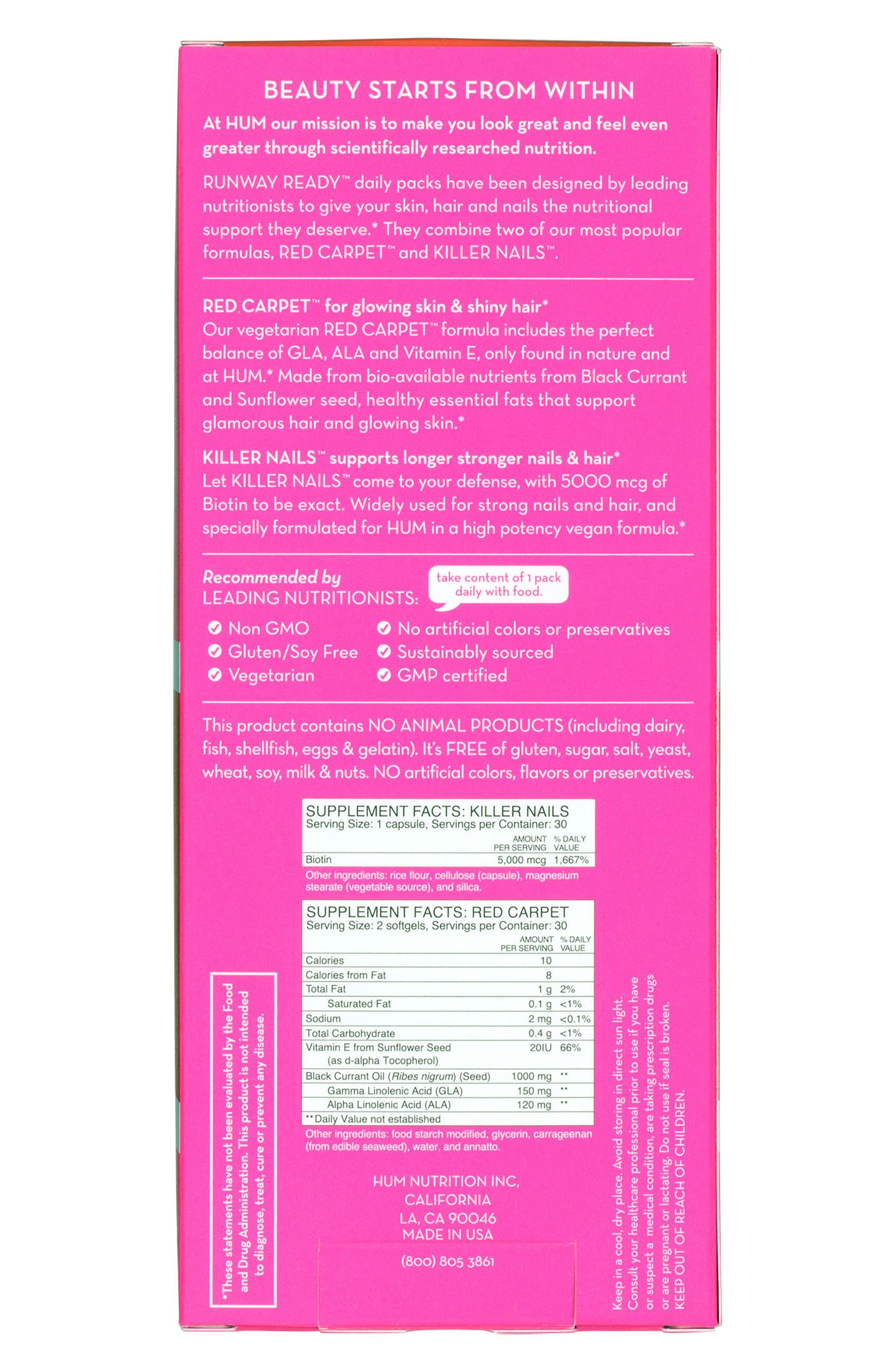 Runway Ready<sup>®</sup> Skin, Hair & Nail Repair Kit,                             Alternate thumbnail 4, color,                             NO COLOR