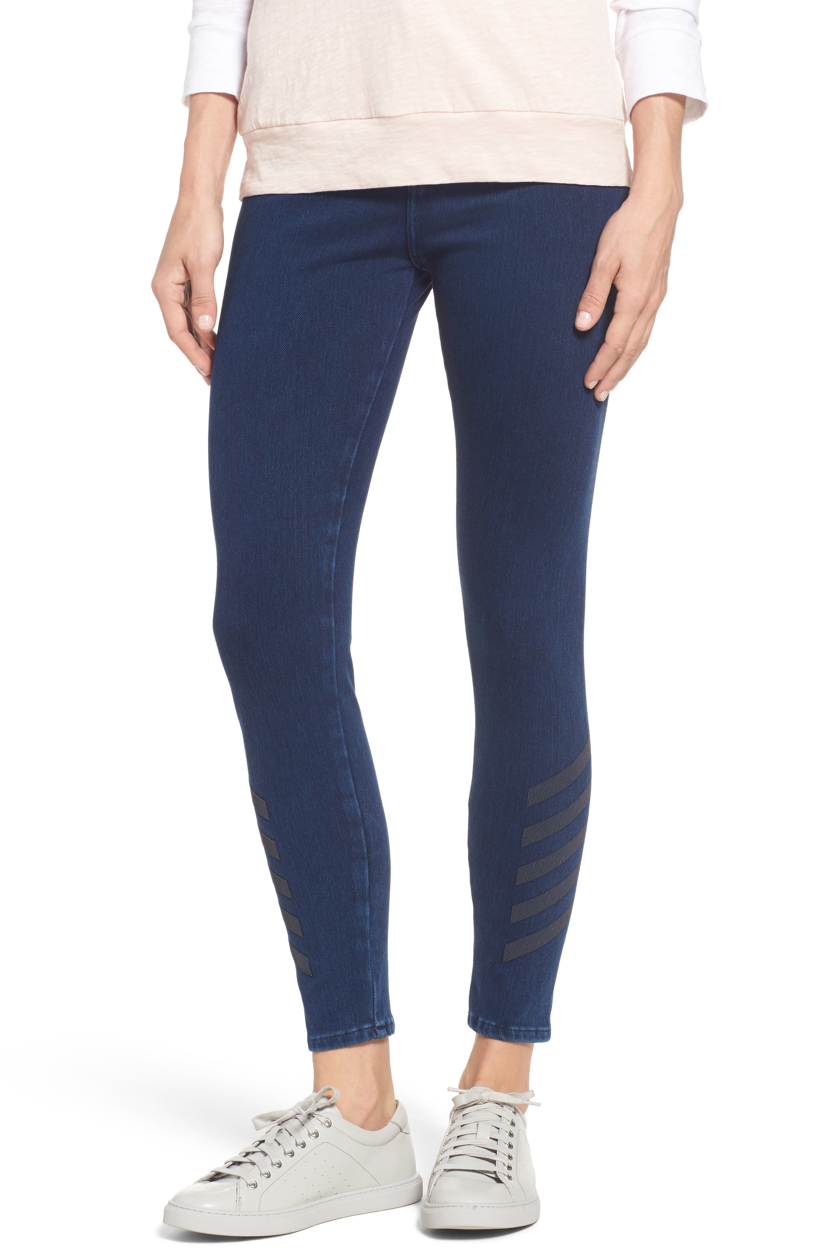 Joie Embellished High Waist Skinny Jeans,                             Main thumbnail 1, color,