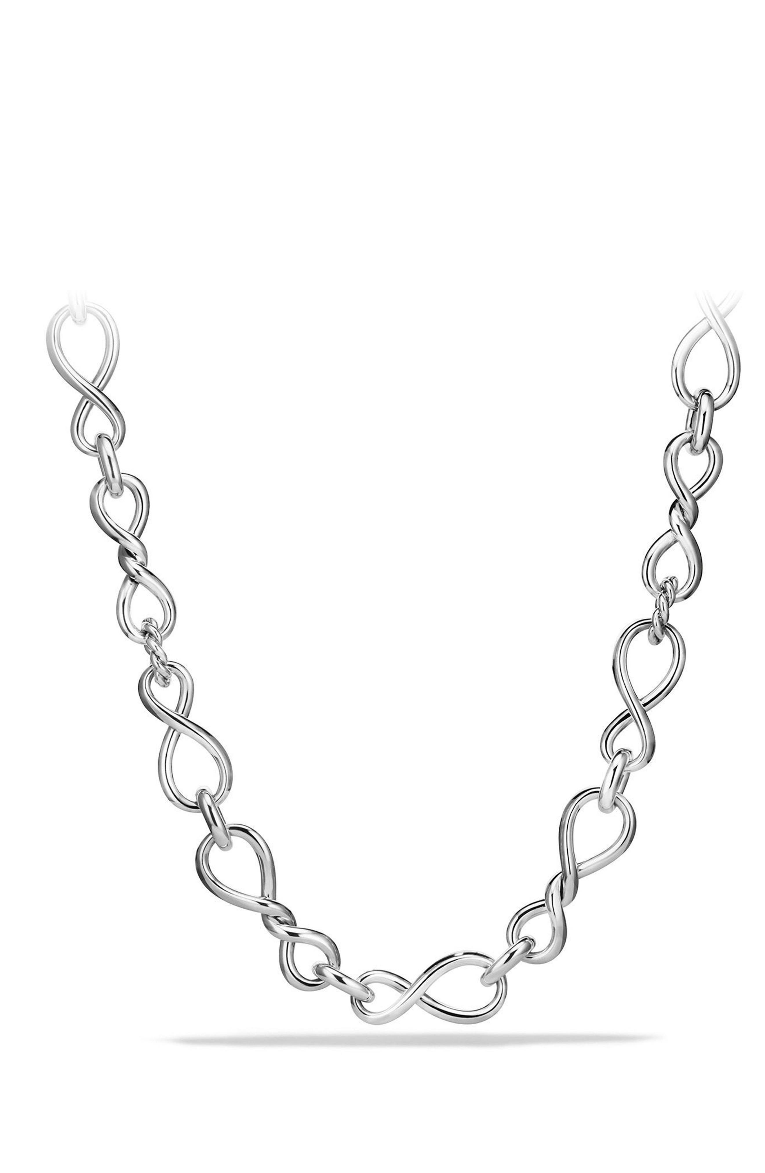 Continuance Large Chain Necklace,                             Main thumbnail 1, color,                             SILVER