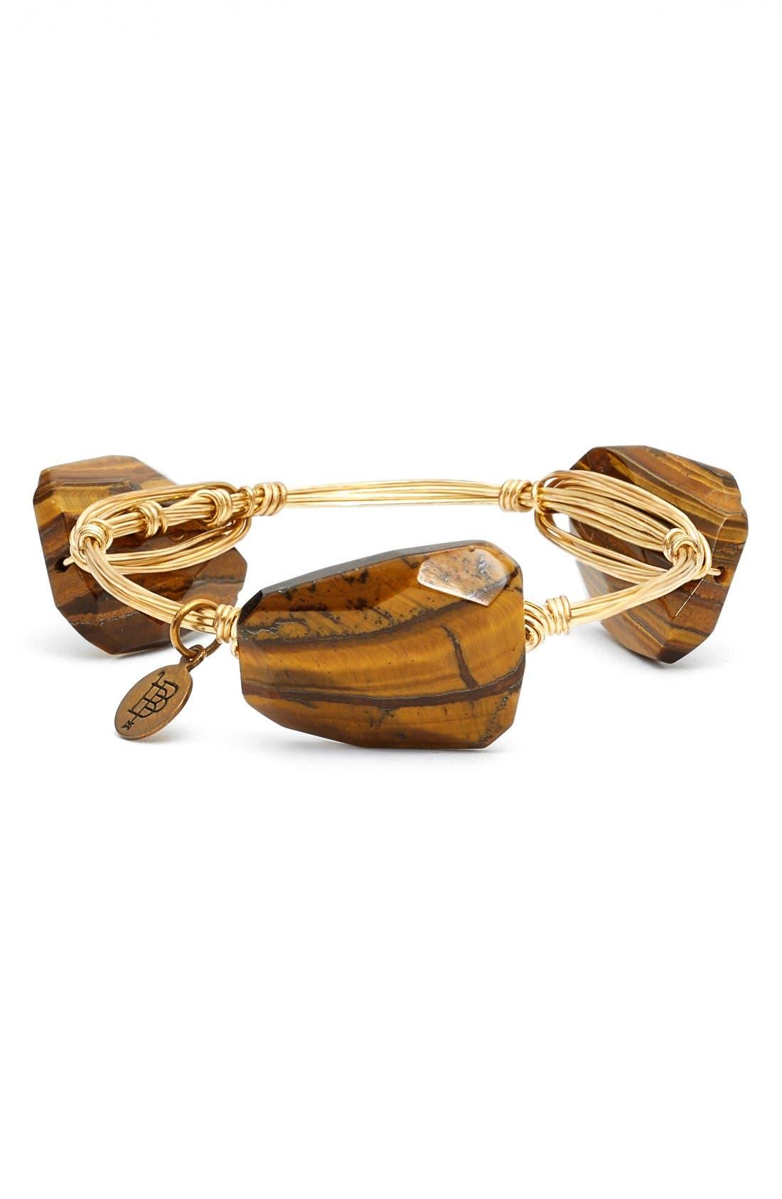 'Tiger's Eye Agate & Jet Acrylic Crystal' Stone Bracelets,                             Alternate thumbnail 2, color,                             200