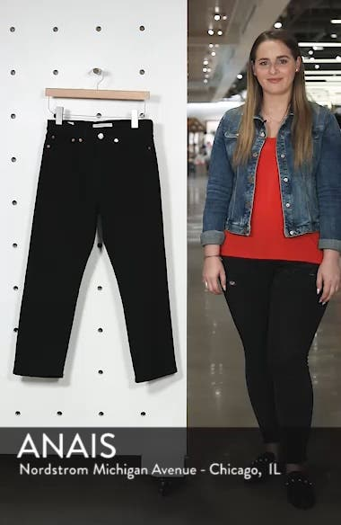 Wedgie High Waist Straight Jeans, sales video thumbnail