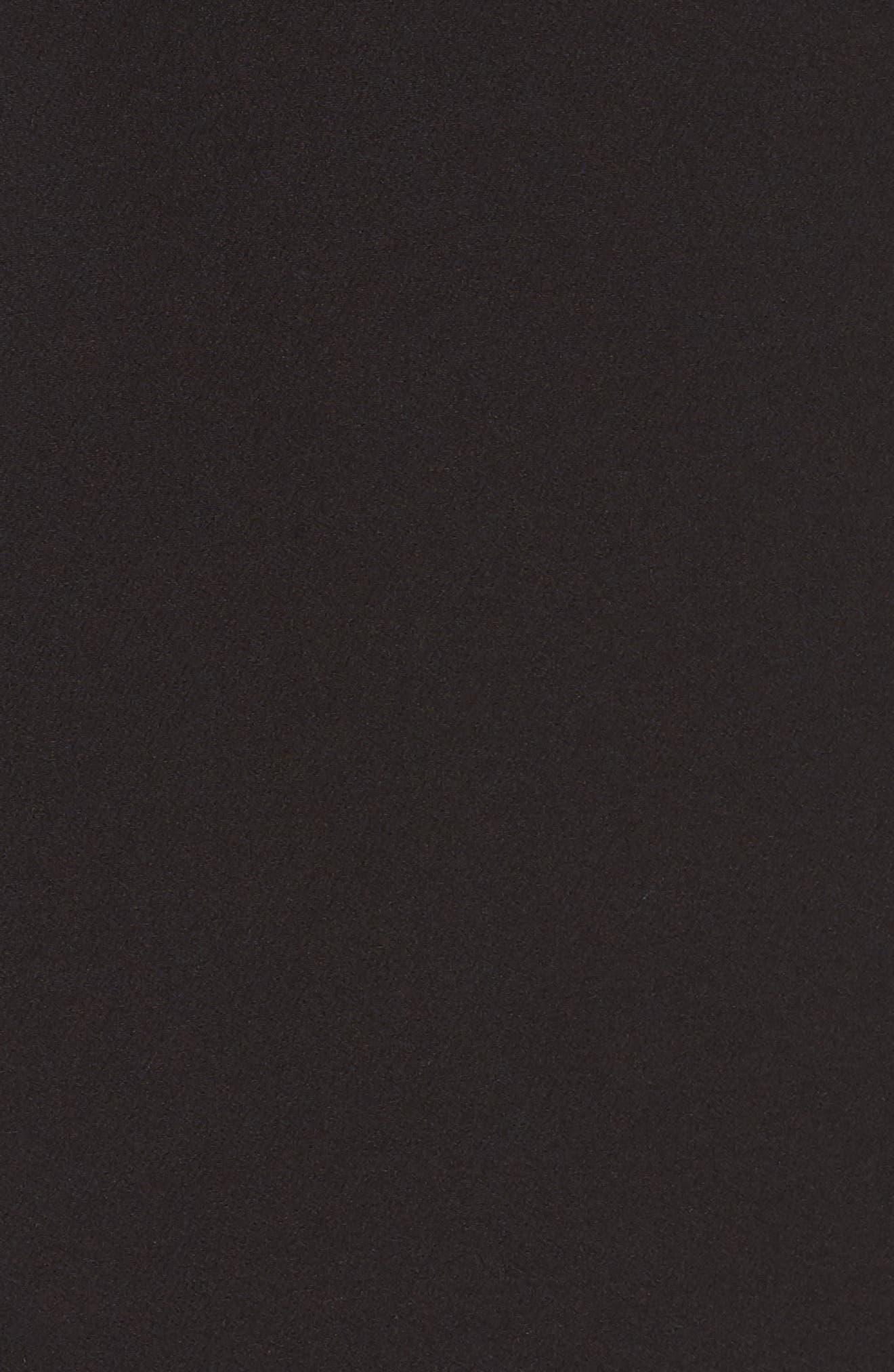 Strapless Bow Detail Sheath Dress,                             Alternate thumbnail 6, color,                             BLACK