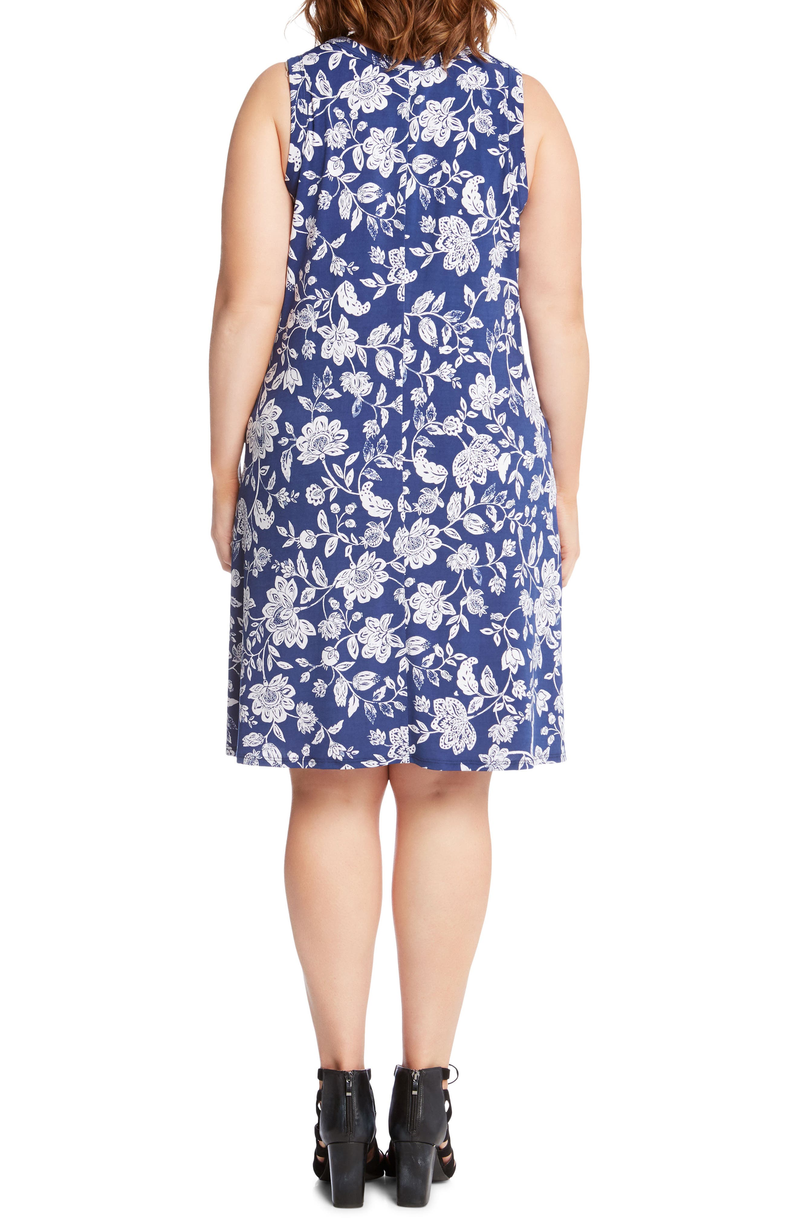 Floral Sleeveless Dress,                             Alternate thumbnail 2, color,                             400