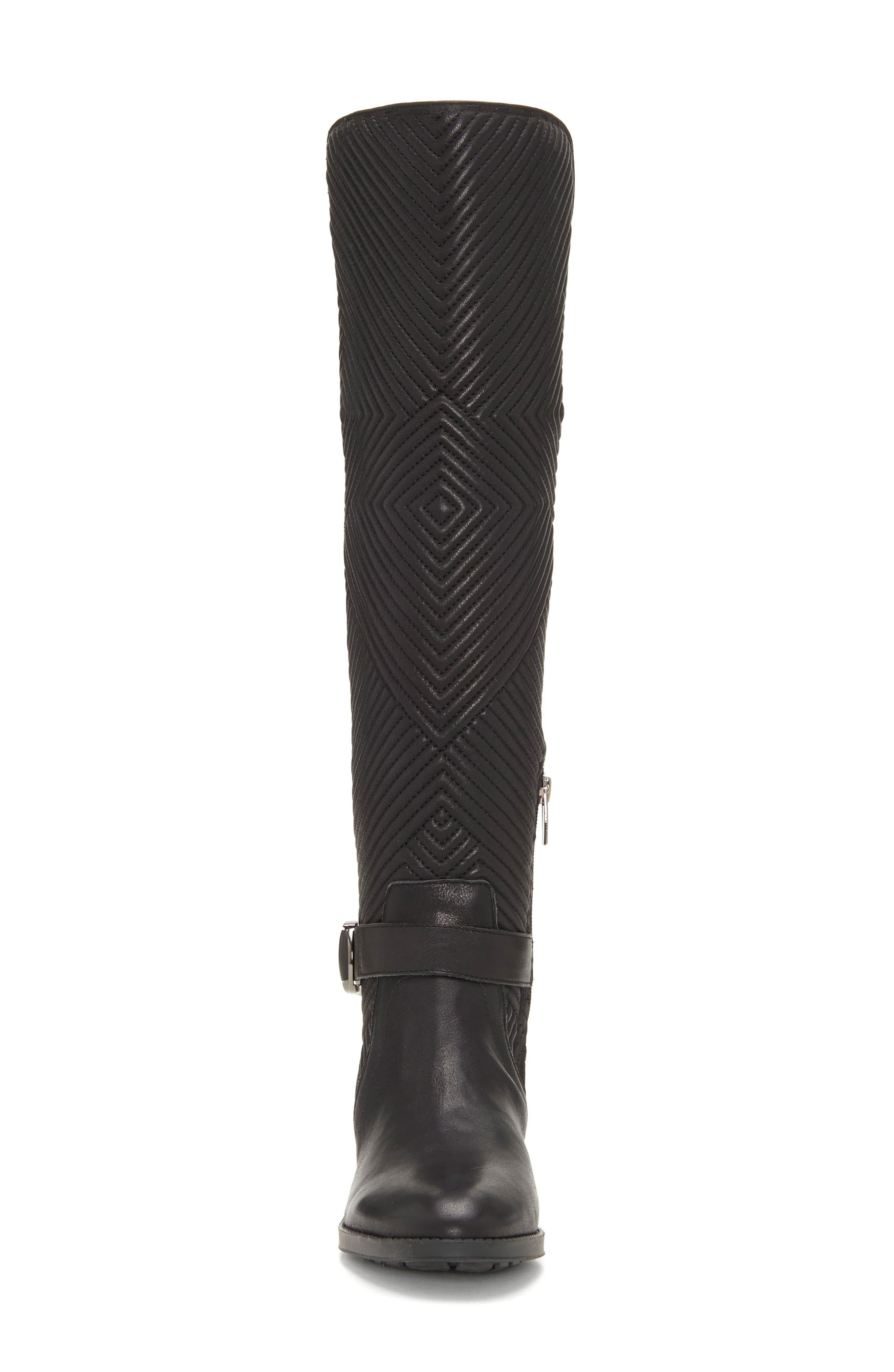 Pordalia Over-the-Knee Boot,                             Alternate thumbnail 4, color,                             BLACK LEATHER WIDE