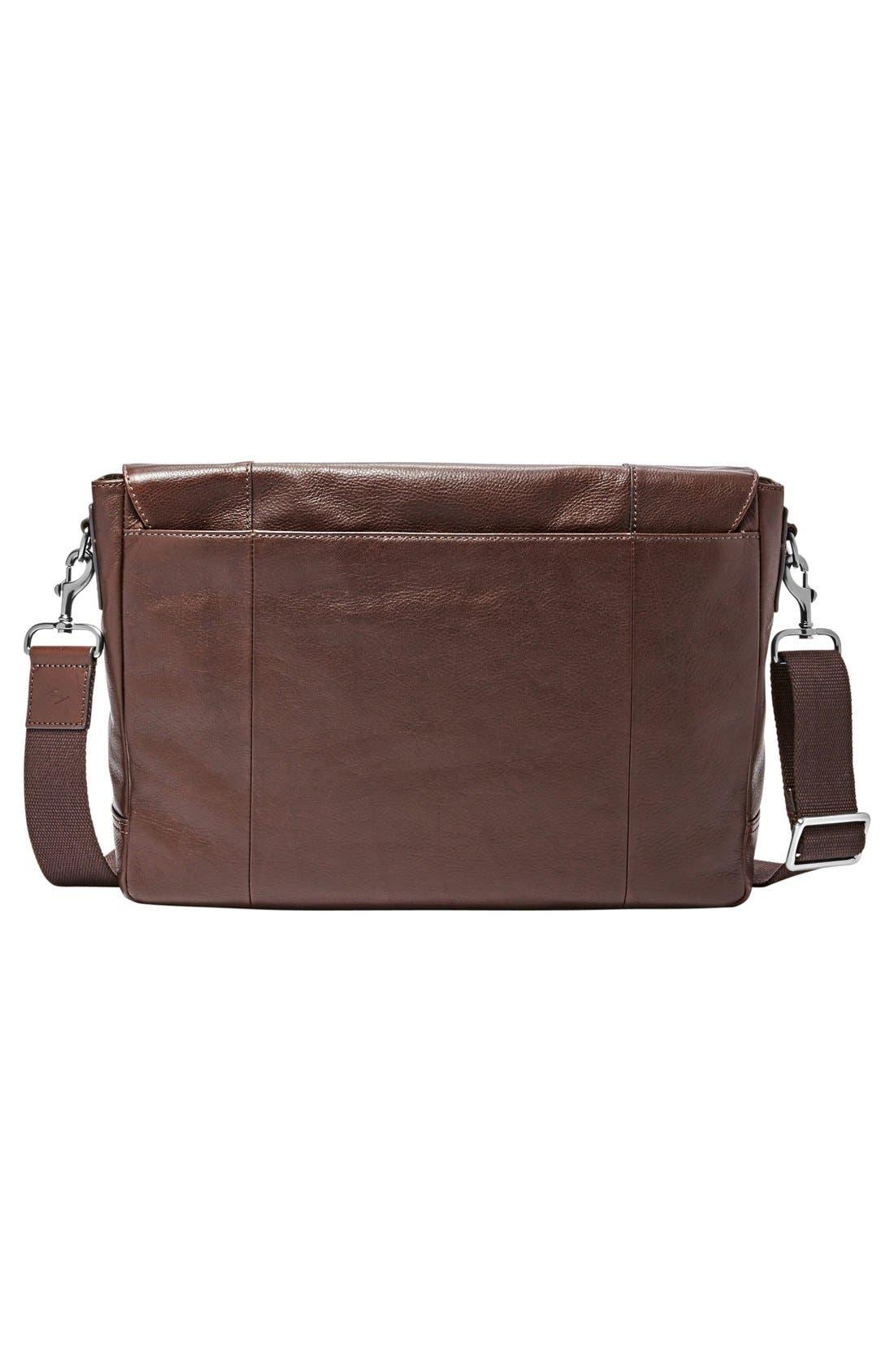 'Graham' Leather Messenger Bag,                             Alternate thumbnail 2, color,                             201
