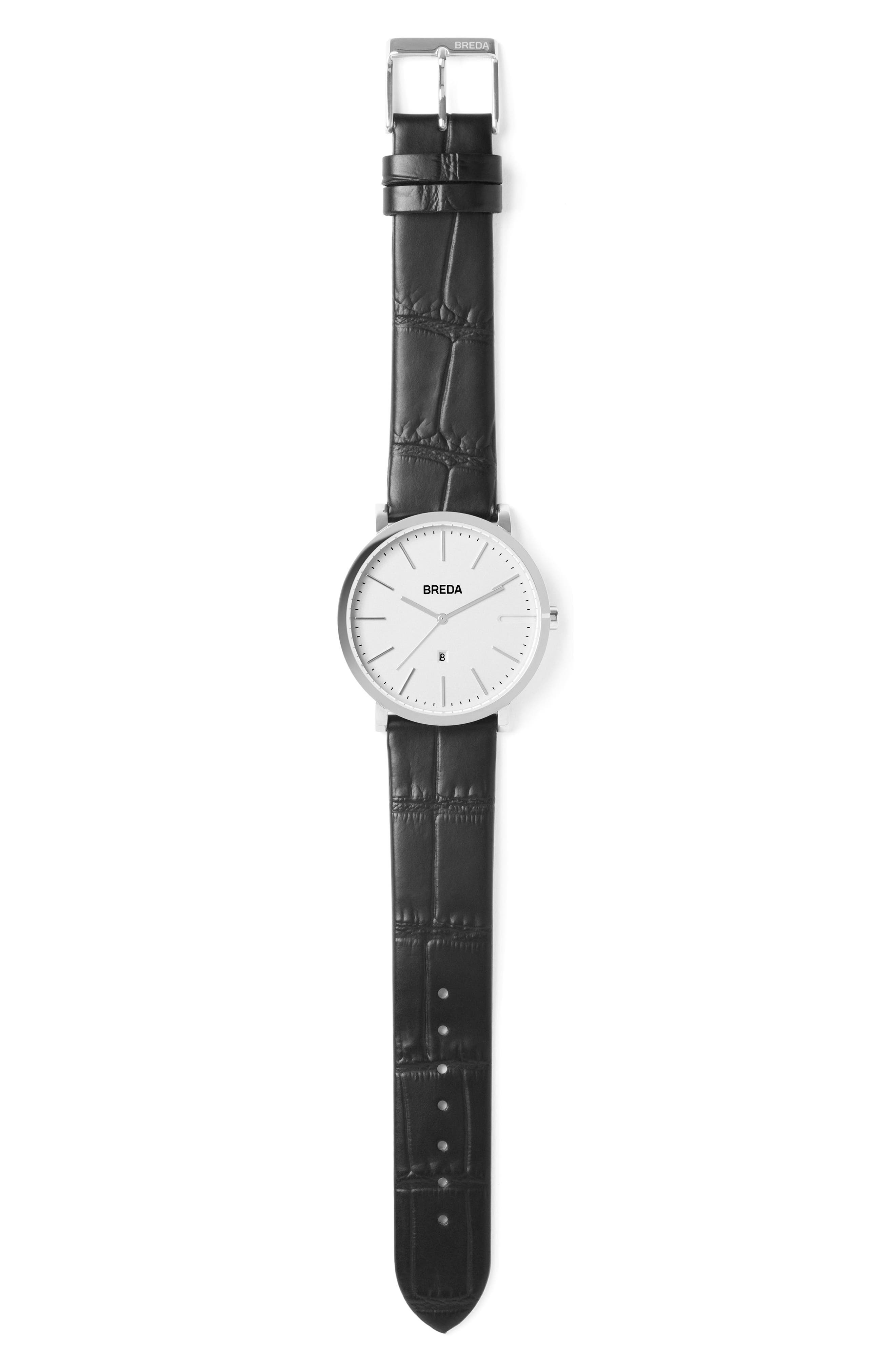 Breuer Leather Strap Watch, 39mm,                             Alternate thumbnail 7, color,