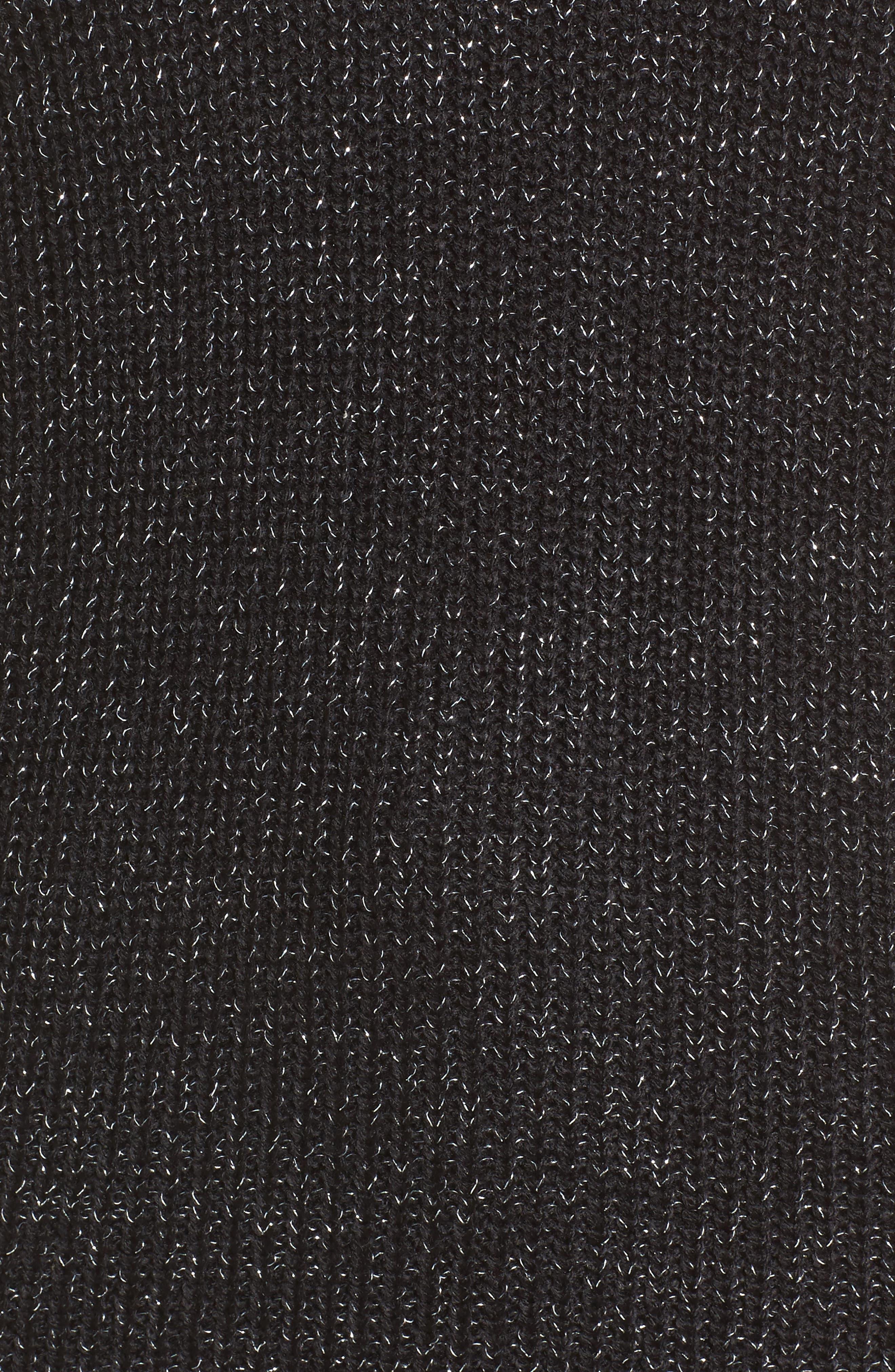 Sparkle Knit Sweater,                             Alternate thumbnail 5, color,                             001