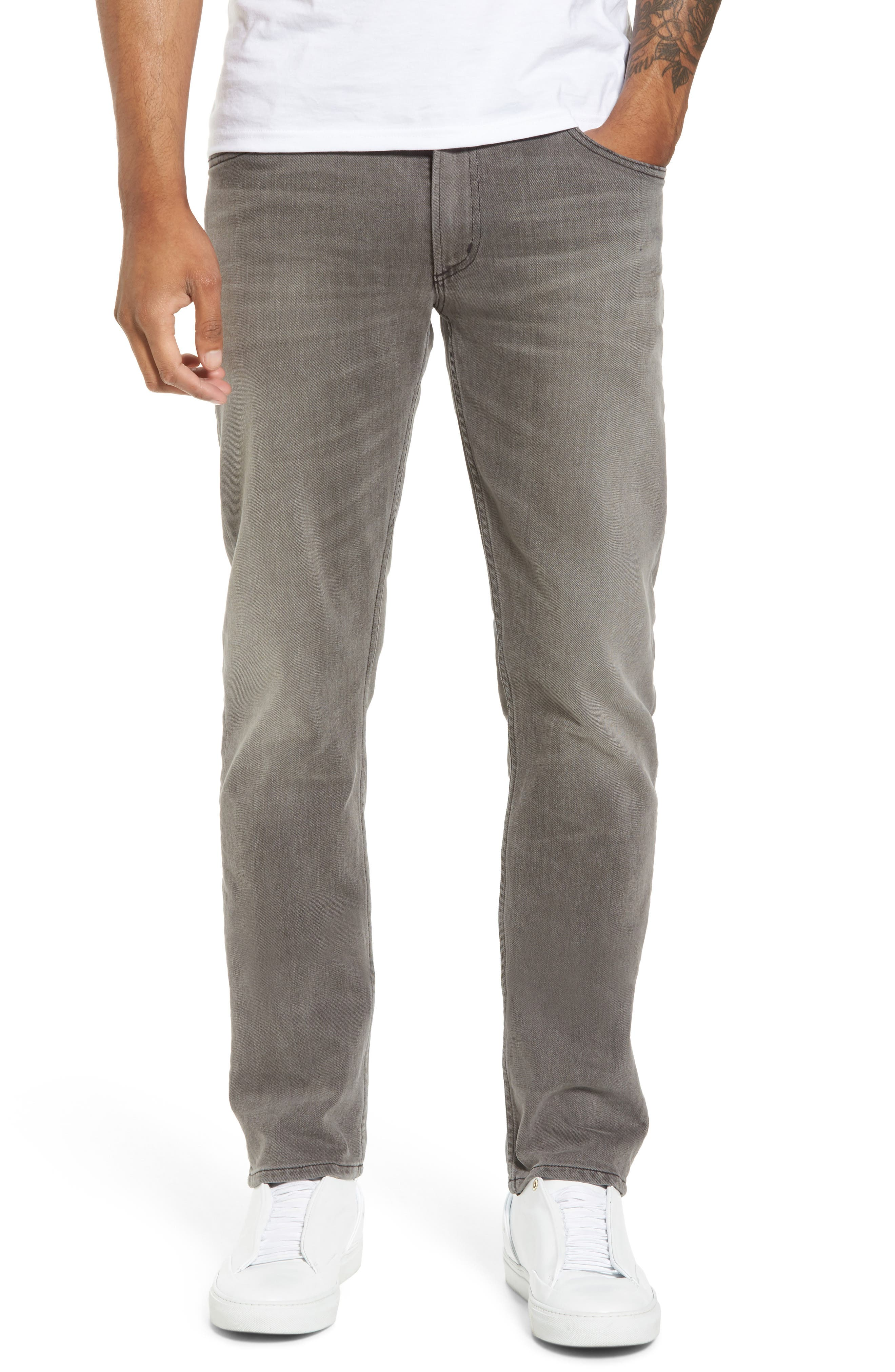 Bowery Slim Fit Jeans,                             Main thumbnail 1, color,                             LEON