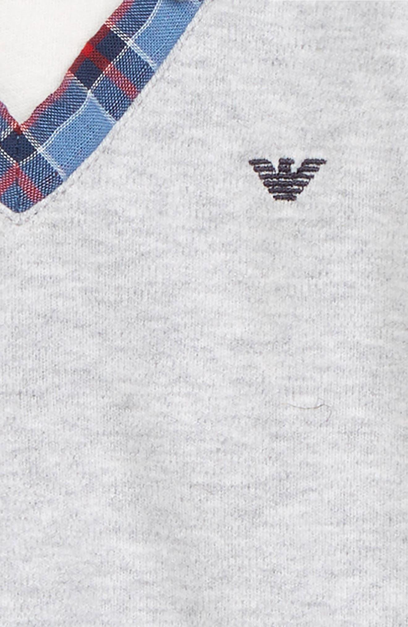 Polo Vest Romper,                             Alternate thumbnail 3, color,                             SOLID BLUE NAVY