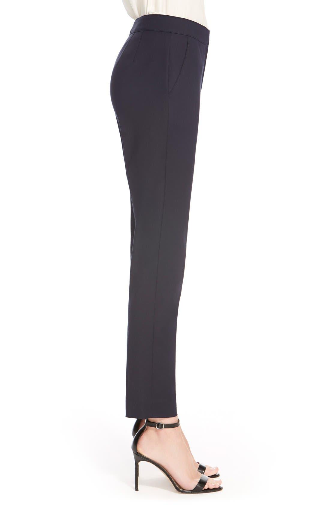 'Emma' Crop Micro Ottoman Pants,                             Alternate thumbnail 5, color,                             NAVY