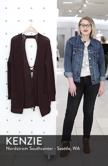 Lace-Up Back Cardigan, sales video thumbnail