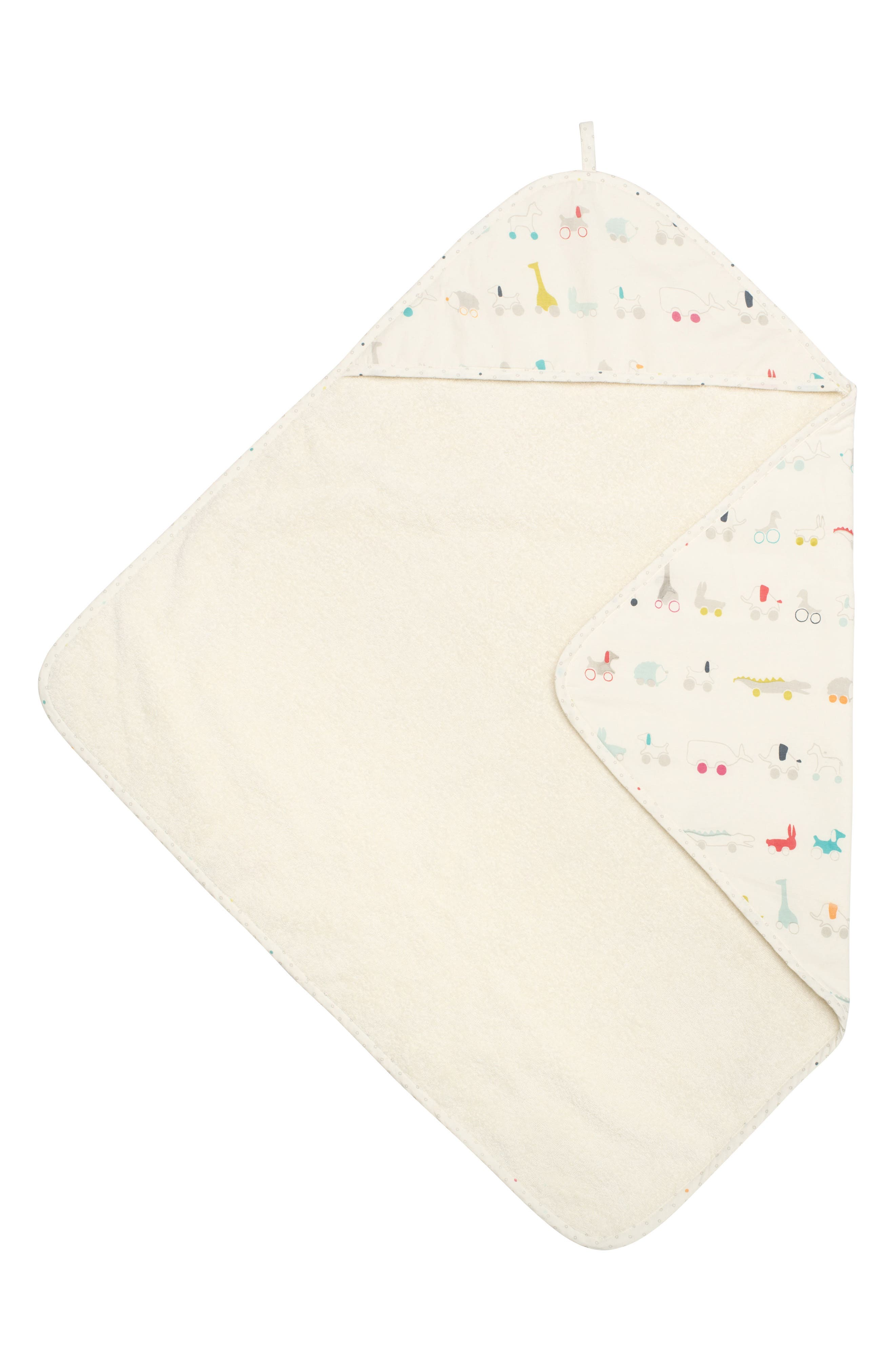 Pull Toys Print Hooded Towel, Main, color, MULTI