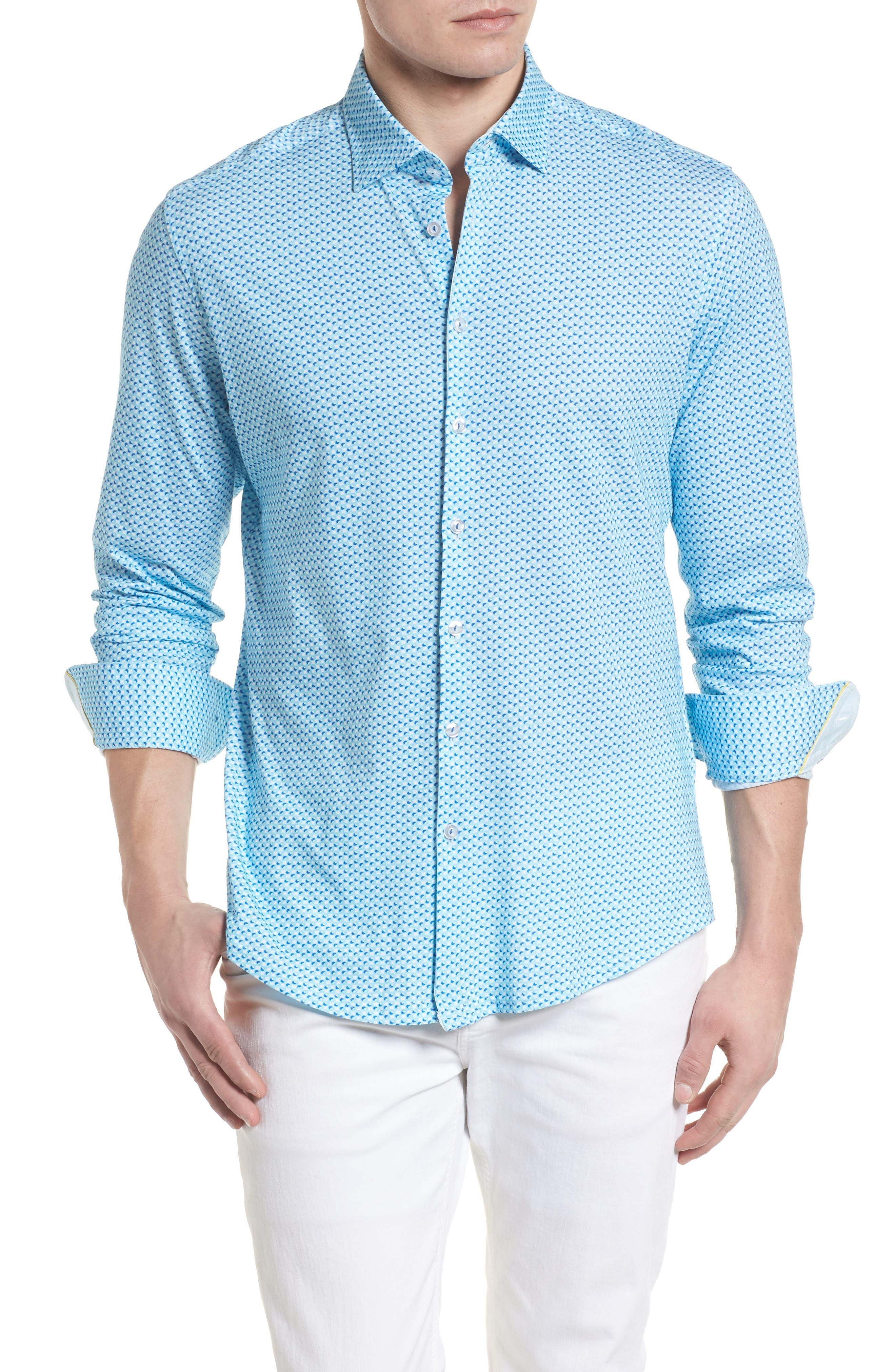 Contemporary Fit Circle Print Sport Shirt,                         Main,                         color, 400