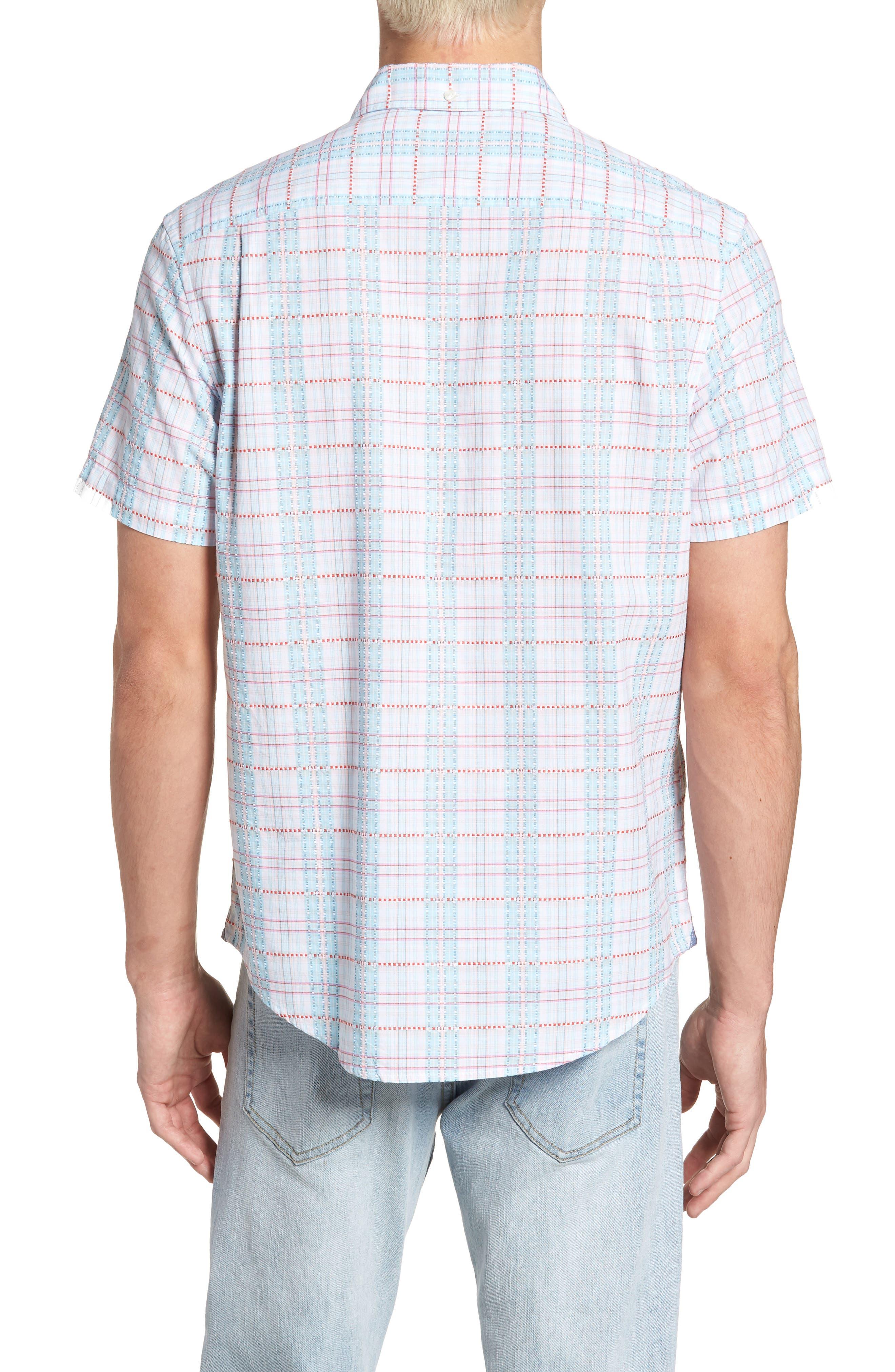 Dobby Plaid Woven Shirt,                             Alternate thumbnail 2, color,                             118