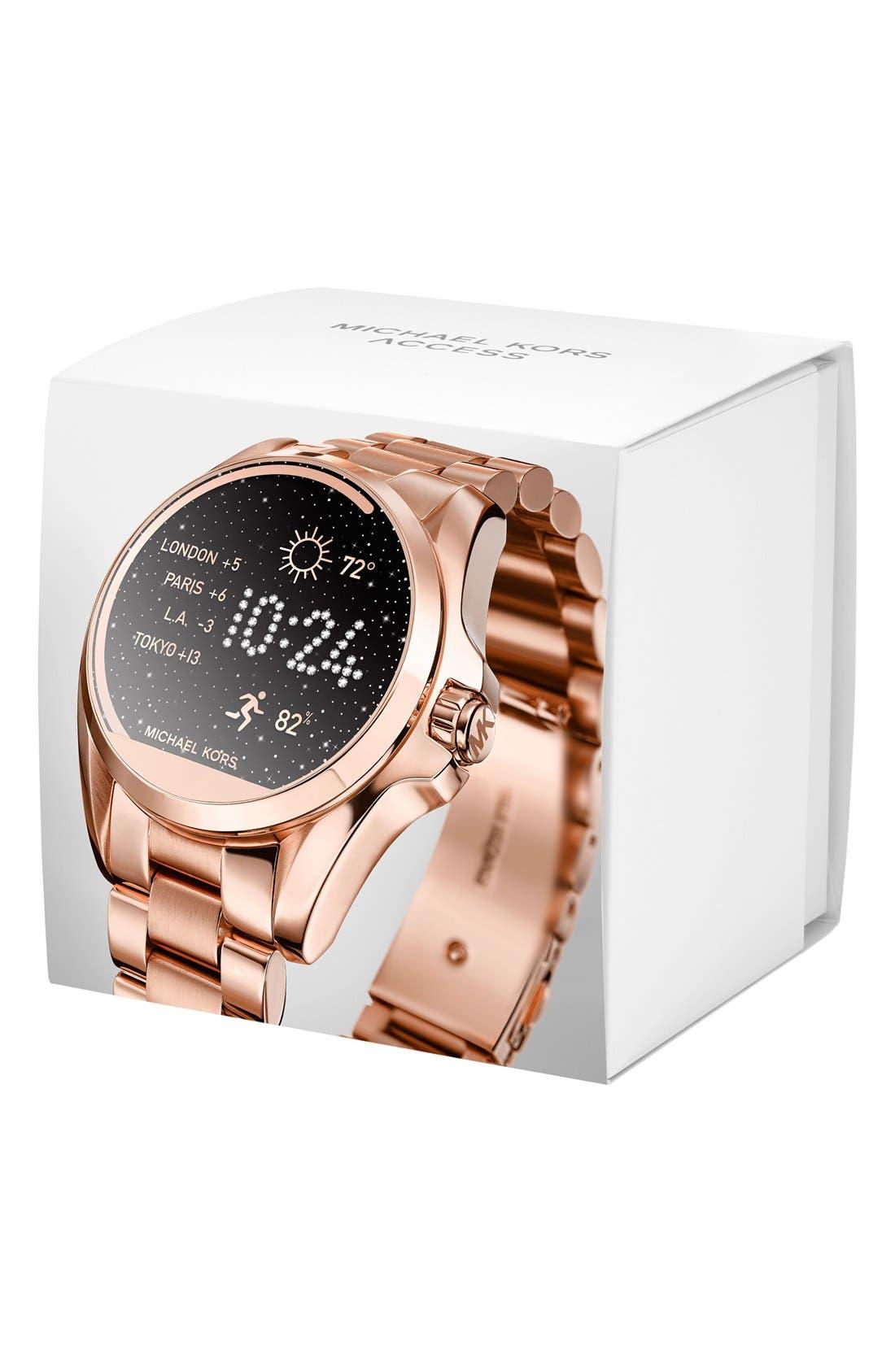 MICHAEL Michael Kors Bradshaw Access Bracelet Smart Watch, 45mm,                             Alternate thumbnail 23, color,